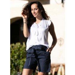 Bermuda-Shorts, Bindegurt