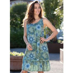 Aermelloses-Kleid, Häckelbesatz