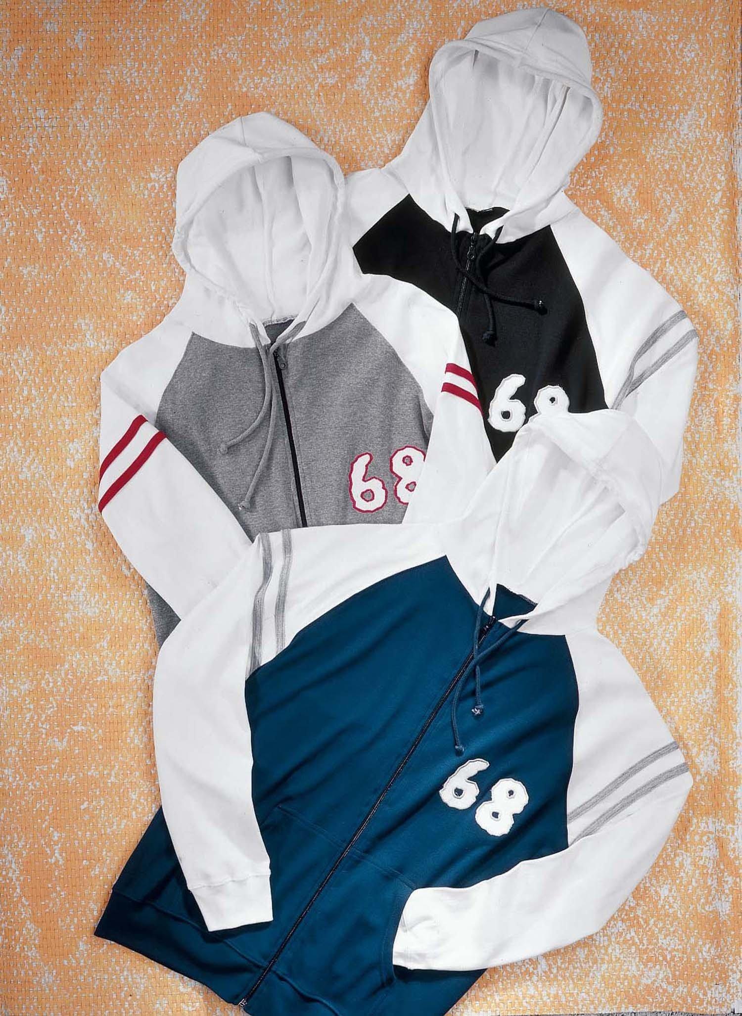 """H-Kapuzen-Jacke """"68"""" grau m./w L 354 - 2 - Ronja.ch"""