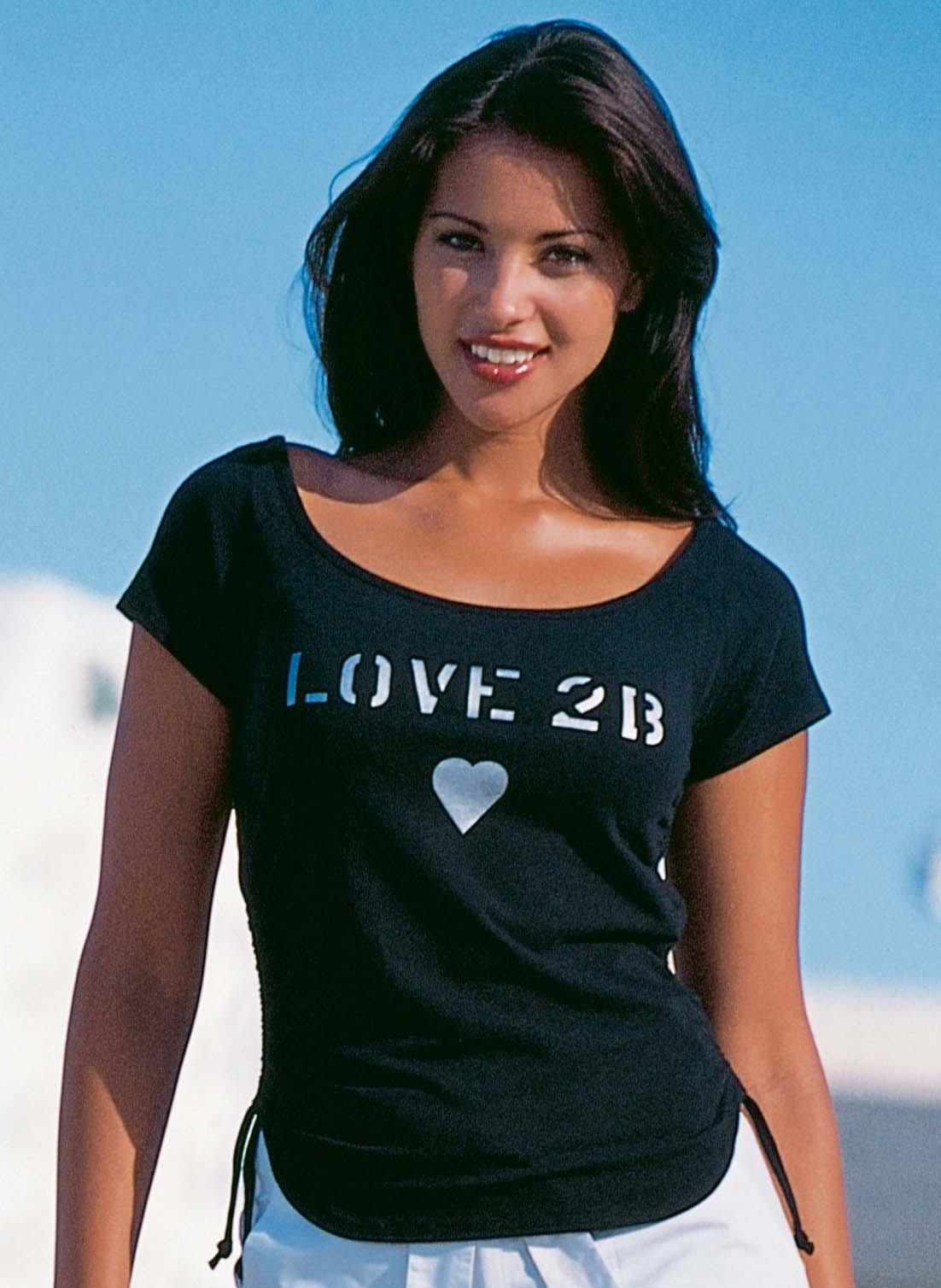 "Top à manches courtes  ""Love 2B"""