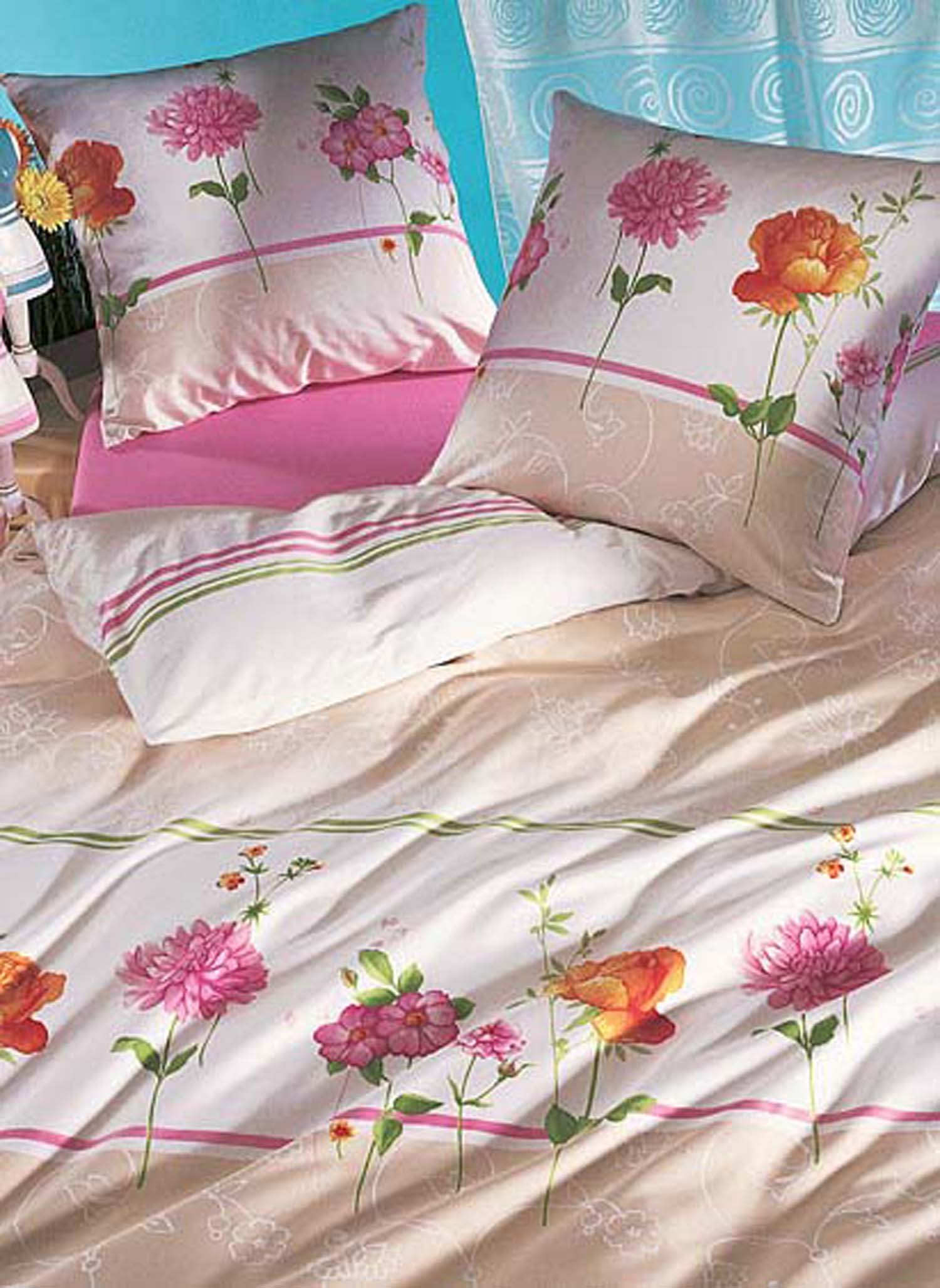 "S-Kissen""Jardin""65x65 rosa/bei - 1 - Ronja.ch"