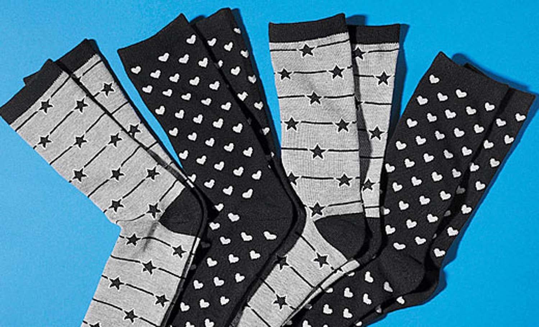 D-Socken,Stern+Herz 4 Paar 3538 225
