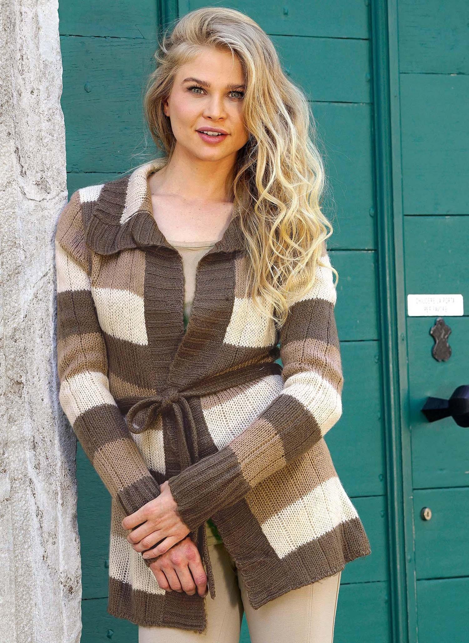 D-Manteau-tricot-soft,brun/bei