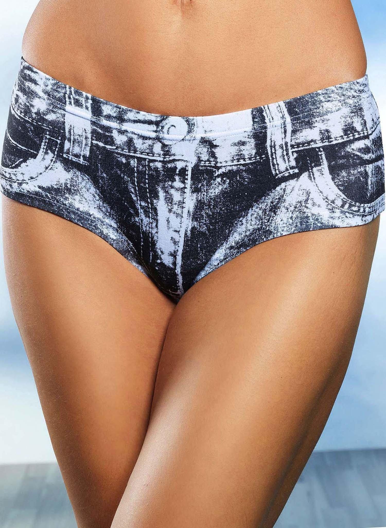 D-Panty-Jeans,3er-S.schw/weiss L 062