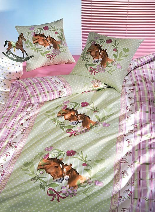 "Garniture de lit  ""HORSE-ROMANCE"""