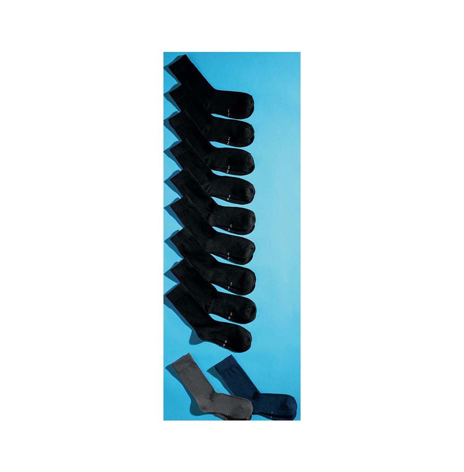 U-Socken,Nr.9er-Set,schwarz 3538 010