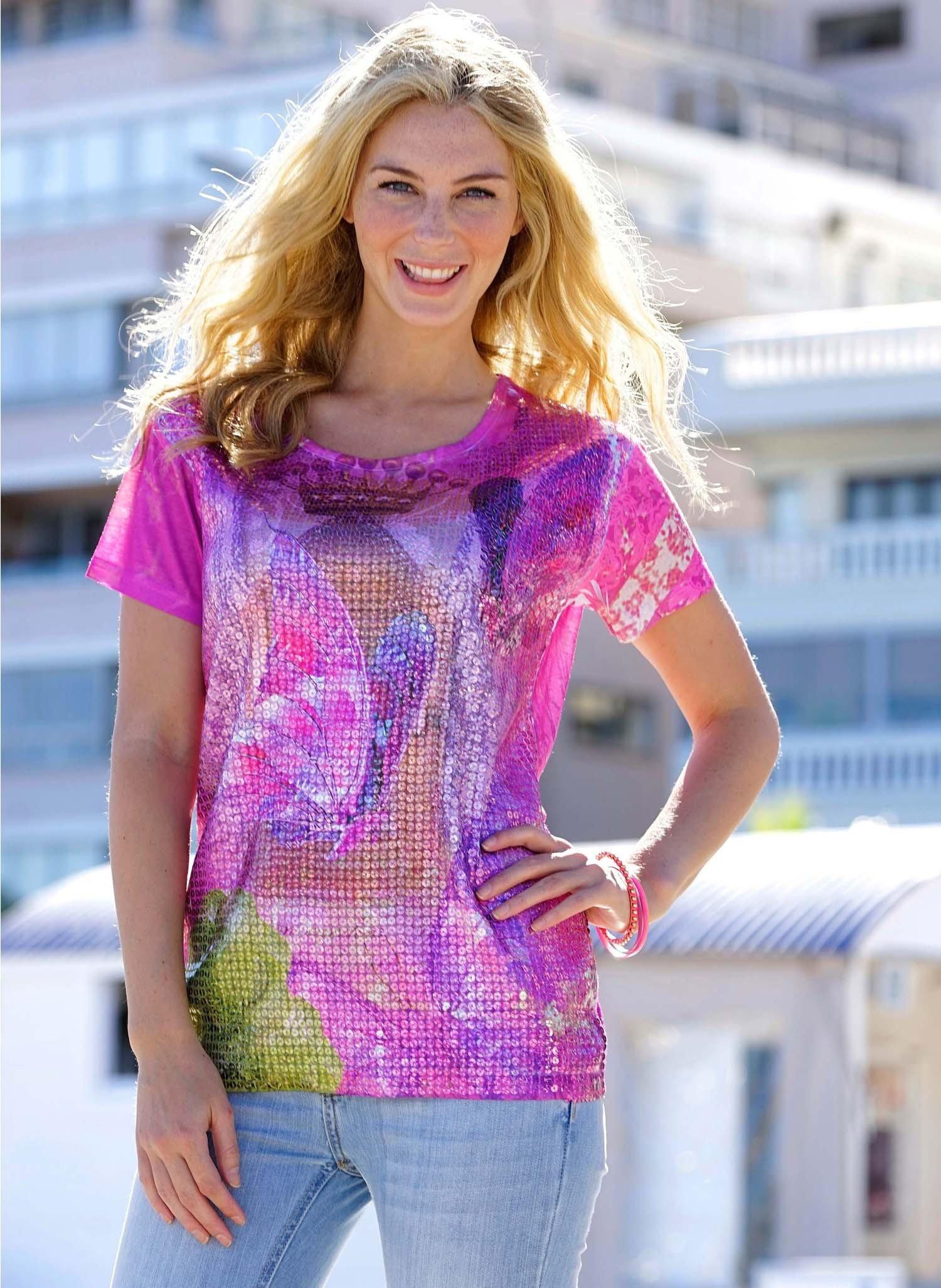 D-KA-Shirt,Schmetterling pink L 011 - 1 - Ronja.ch