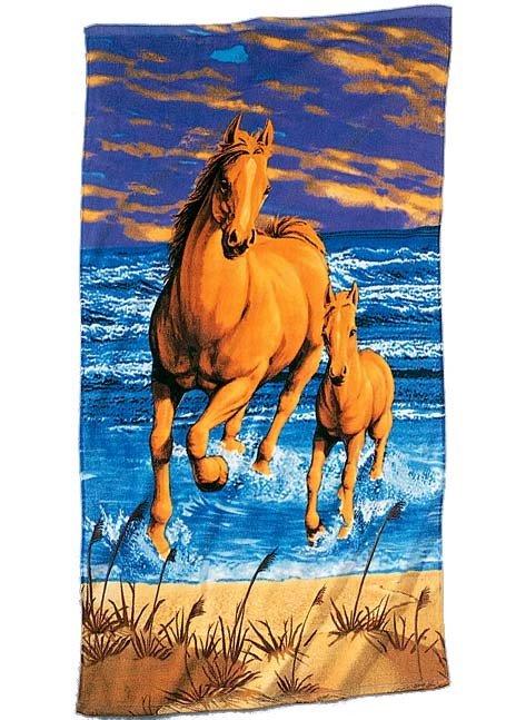 Linge de plage  *Horses*