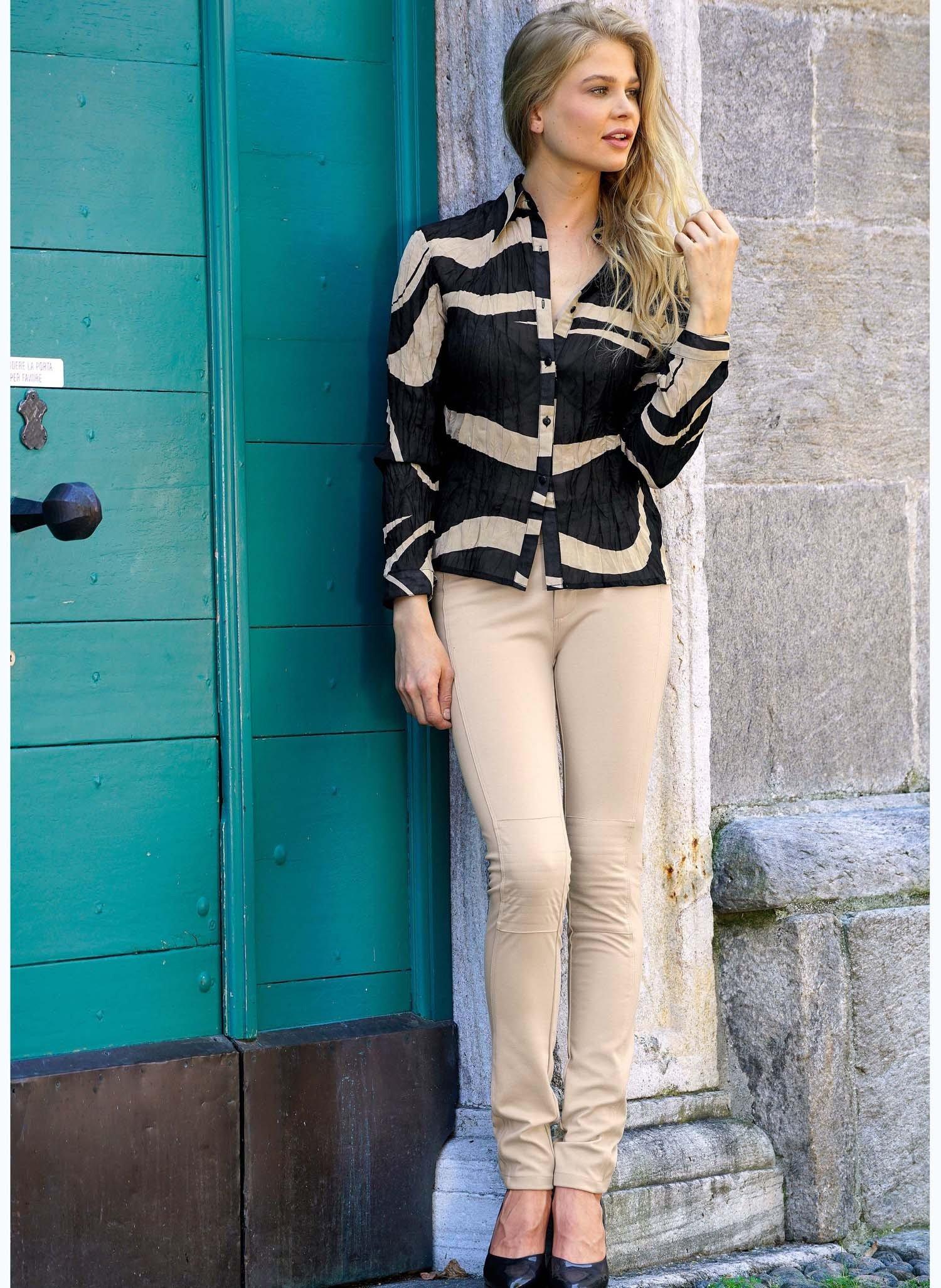 D-Pantalon,cout.genoux beige