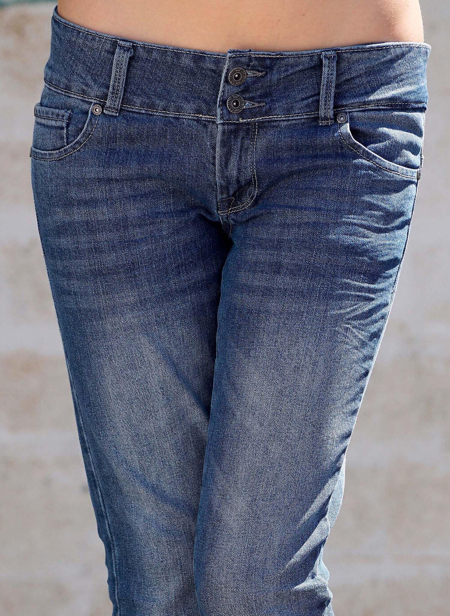 D-7P-Jeans,dopp.Knopf Blue-Den 44 050 - 2 - Ronja.ch