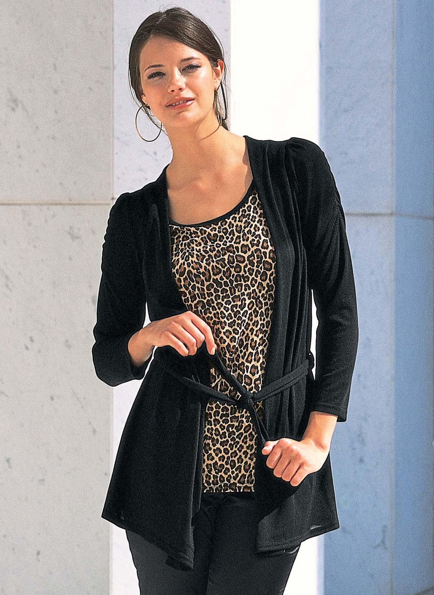 D-Twin-Set,Leopard brun/noir