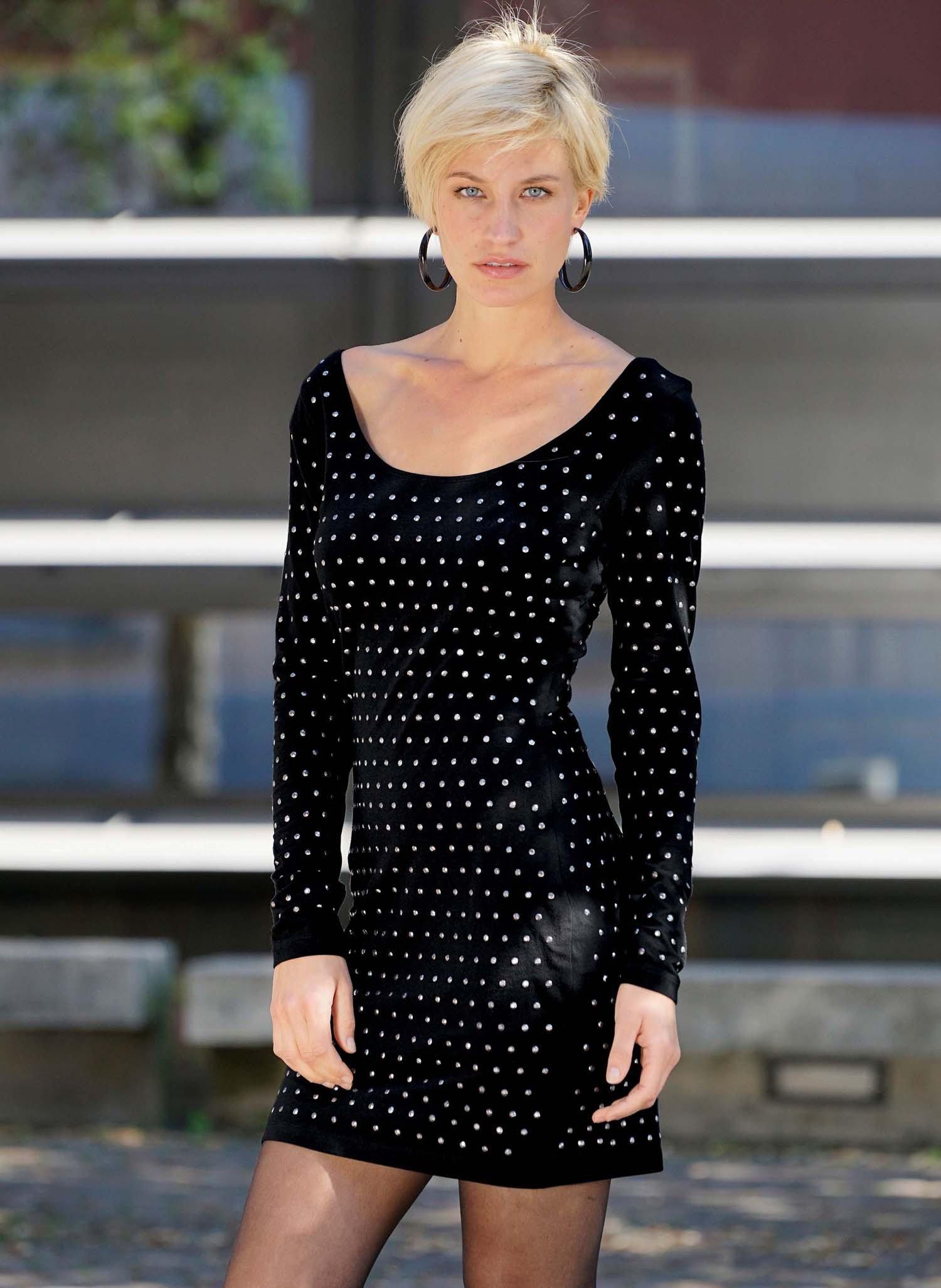 D-LA-Kleid,Nieten schwarz L - 1 - Ronja.ch