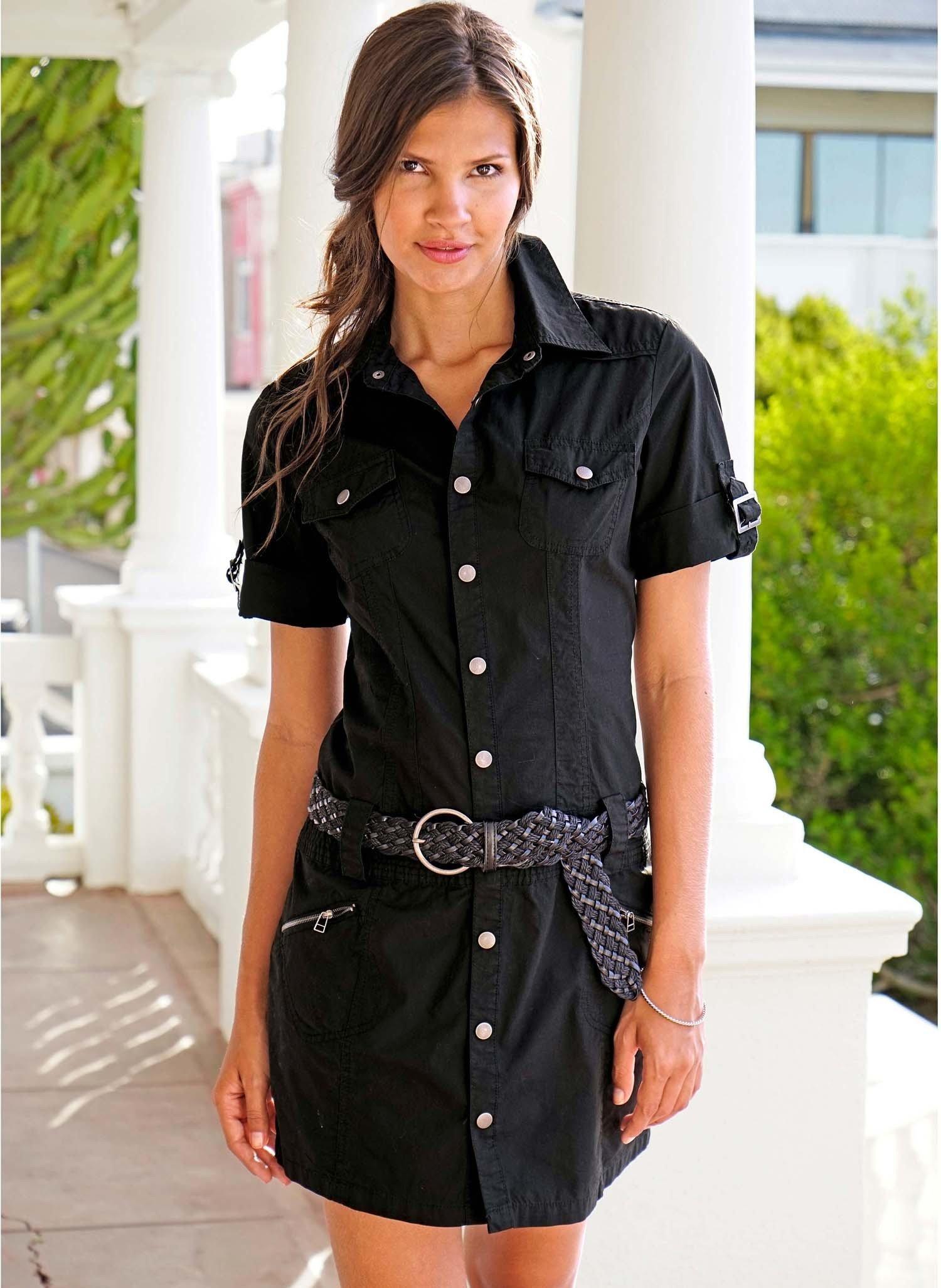 D-Kleid,Jeans-Look schwarz S 010 - 1 - Ronja.ch