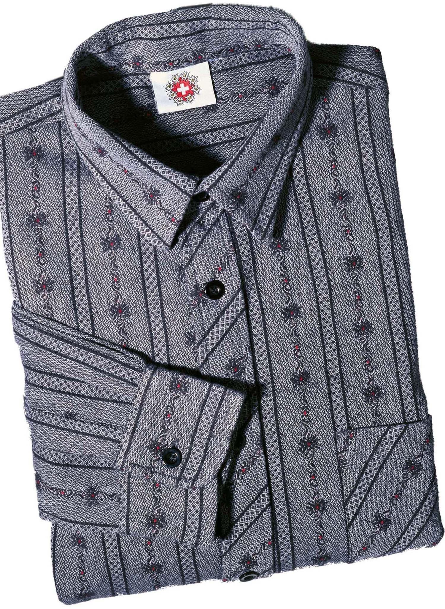 H-KA-Edelweiss Hemd, anthrazit 3738 013 - 2 - Ronja.ch