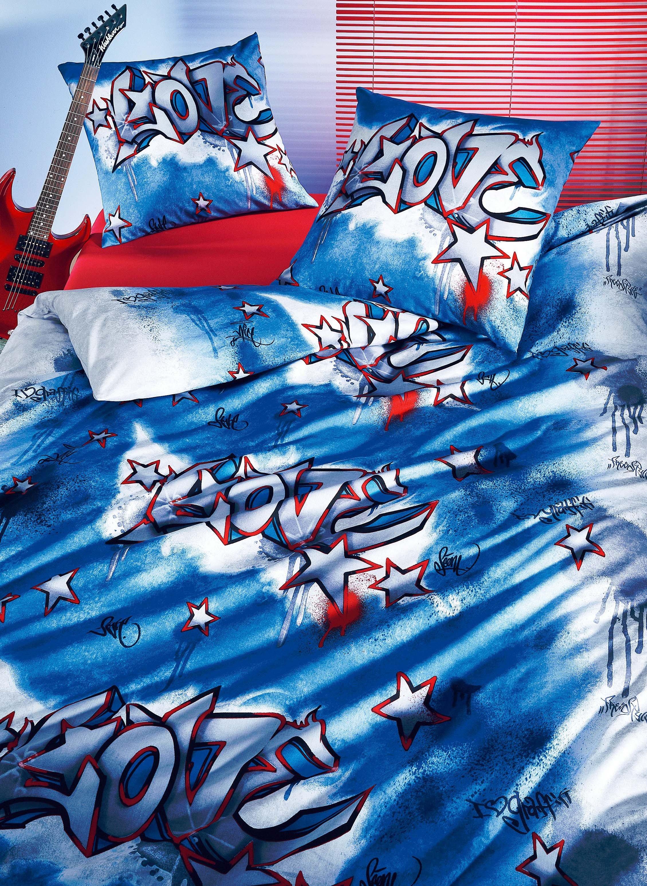 Garniture de lit «LOVE GRAFITTI»