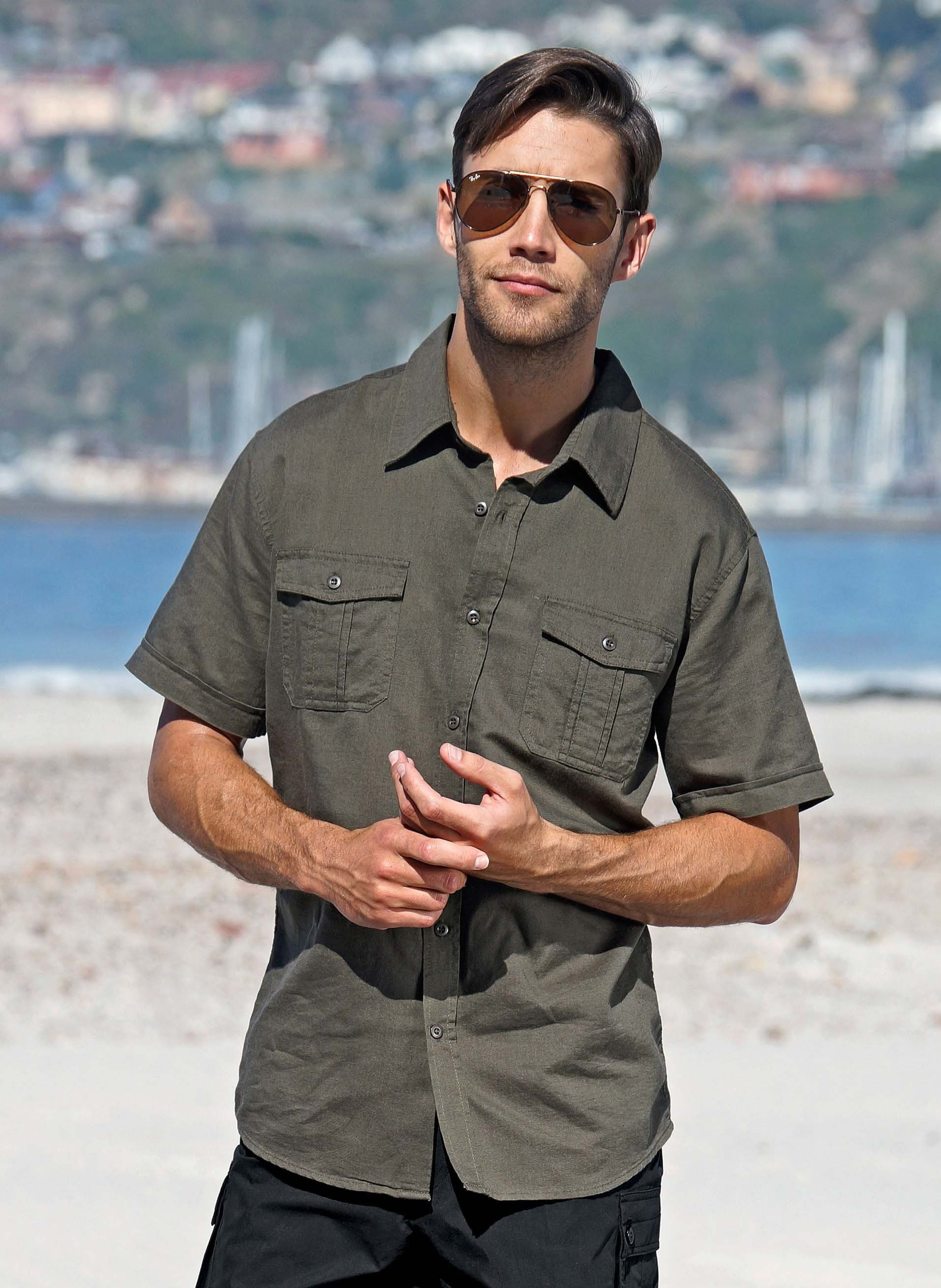 Chemise avec lin