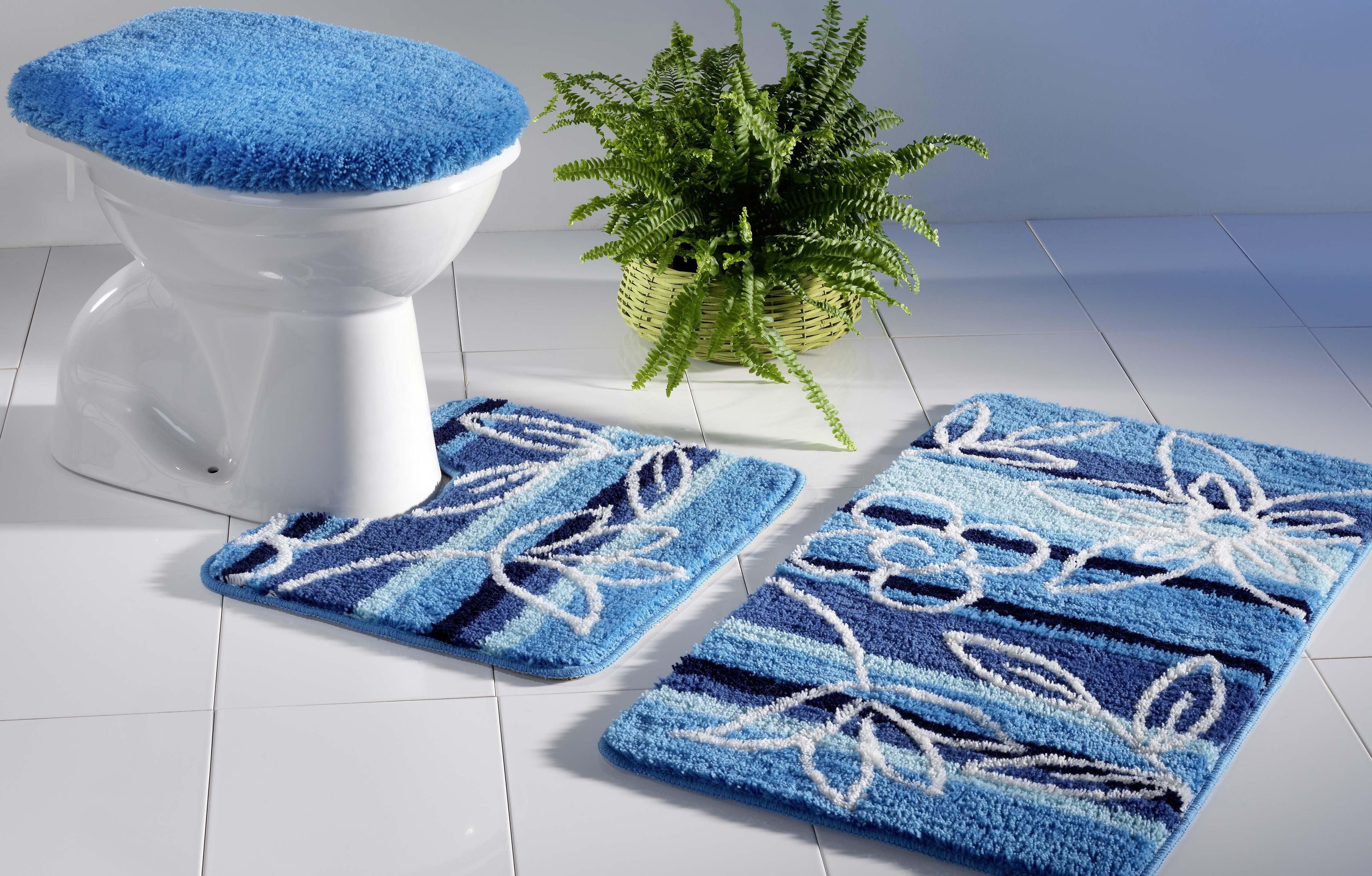 Garniture Bain/WC  *FLEURS*  3 pièces