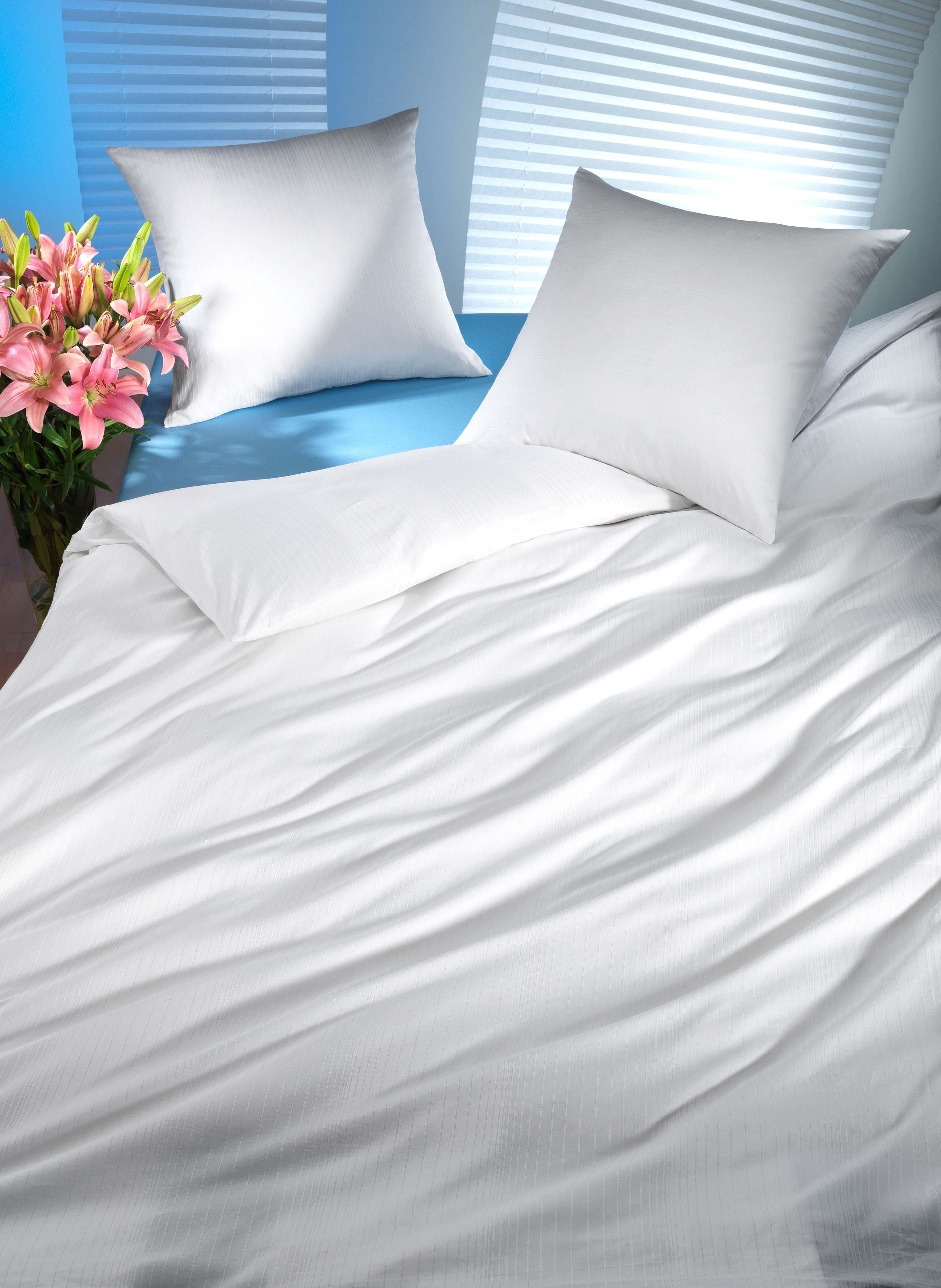 S-Duvet rayures 135x170 blanc