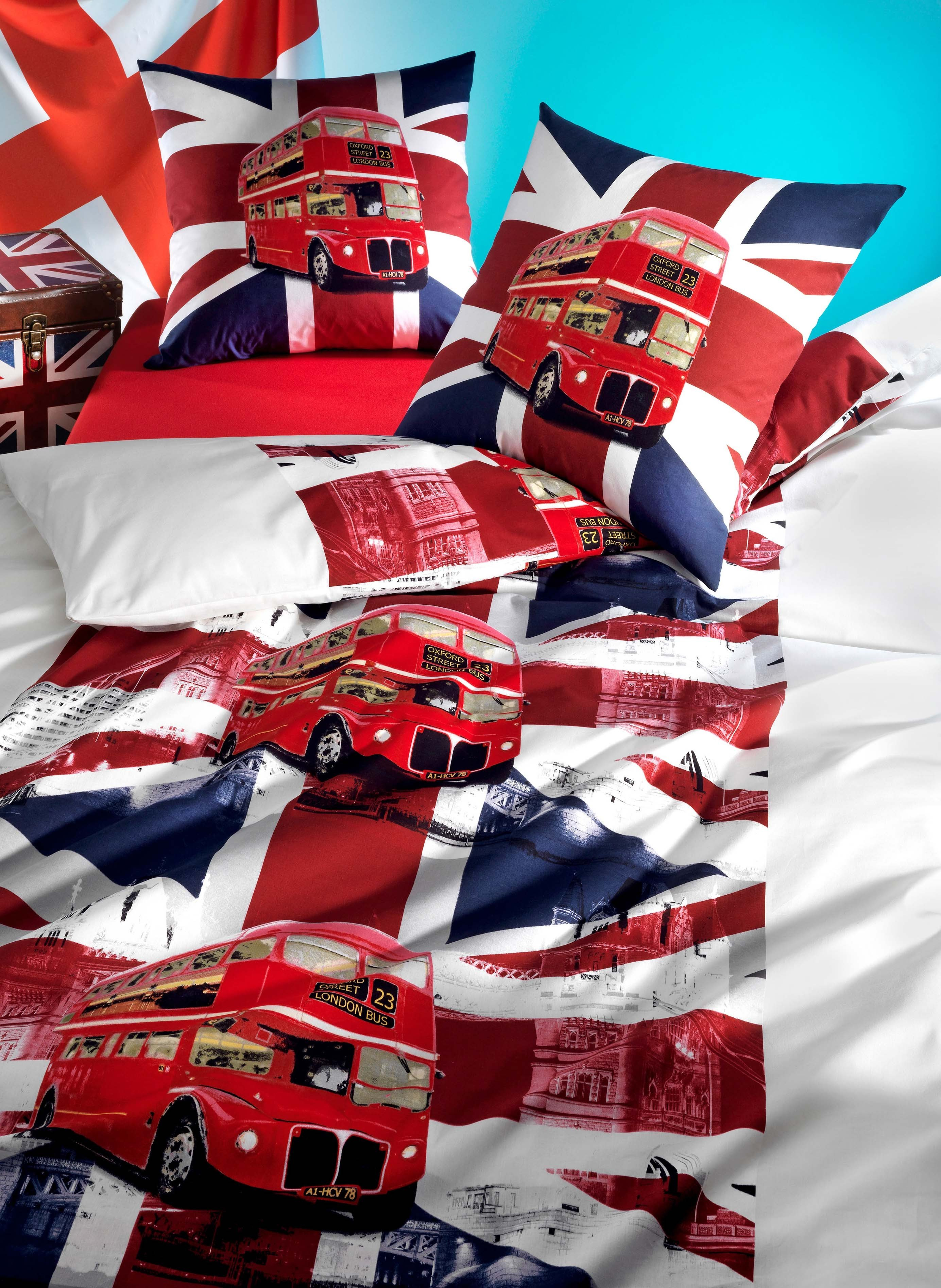 garniture de lit london bus jeunesse enfants literie tout pour le lit. Black Bedroom Furniture Sets. Home Design Ideas