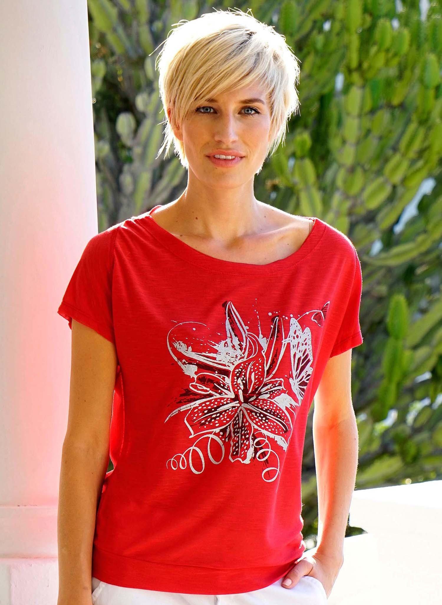 D-KA-Shirt, Schmetterling rot L 023 - 1 - Ronja.ch