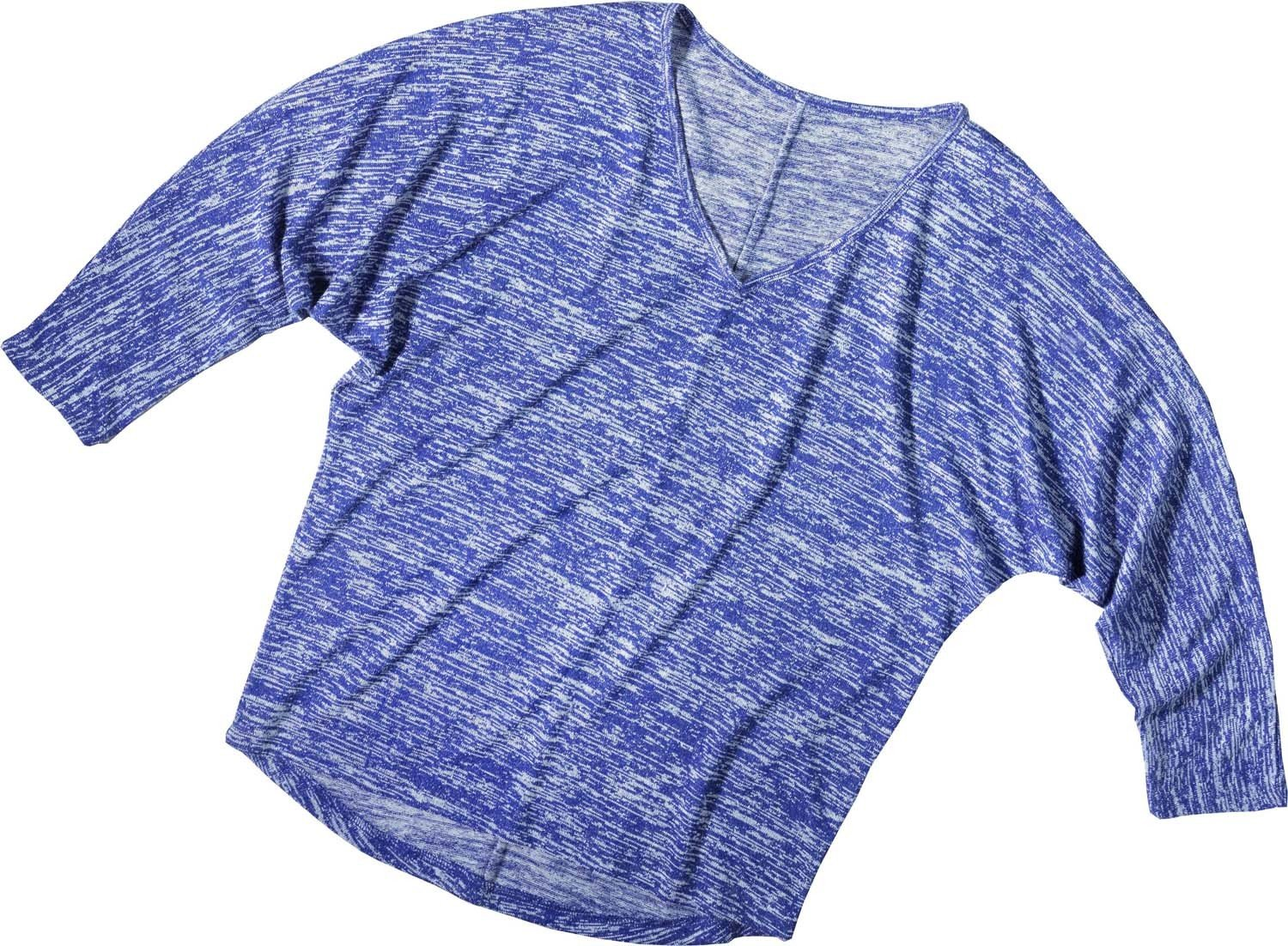 D-3/4-Arm-Top,Flederm.violett XL 036 - 1 - Ronja.ch