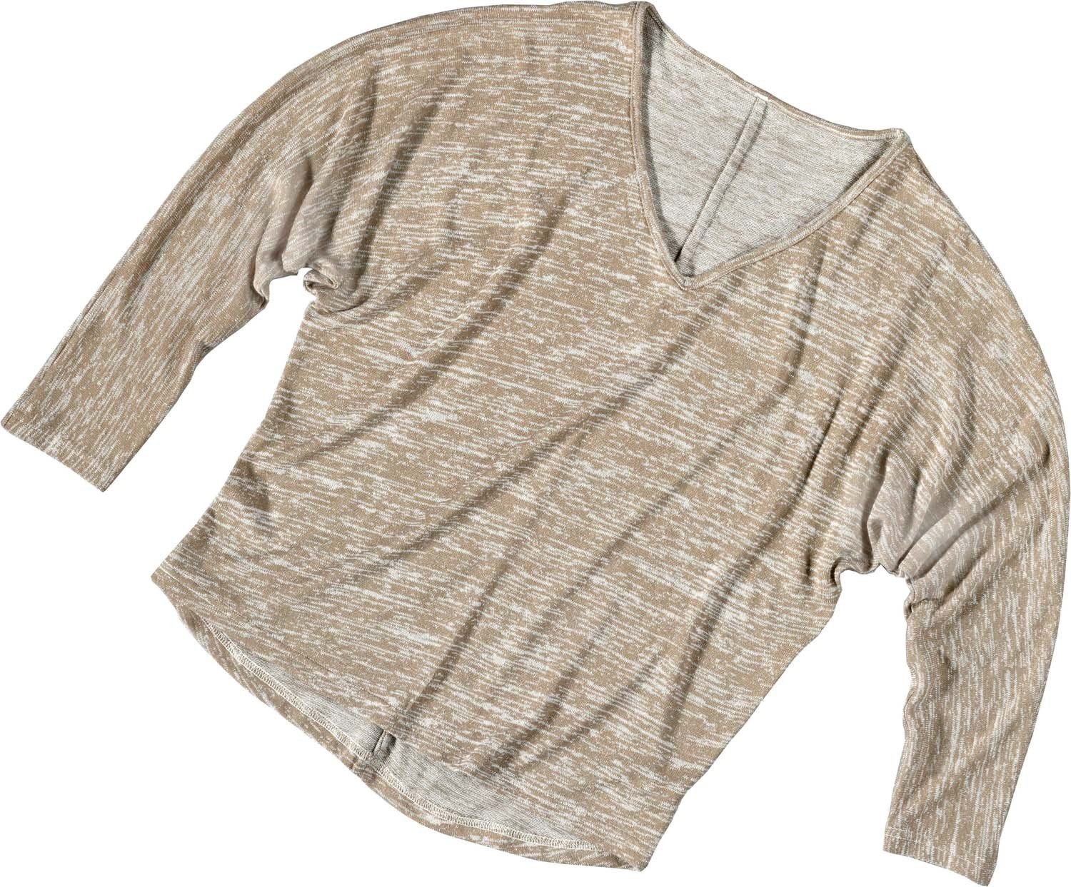 D-3/4-Arm-Top,Flederm.beige XL 008 - 1 - Ronja.ch