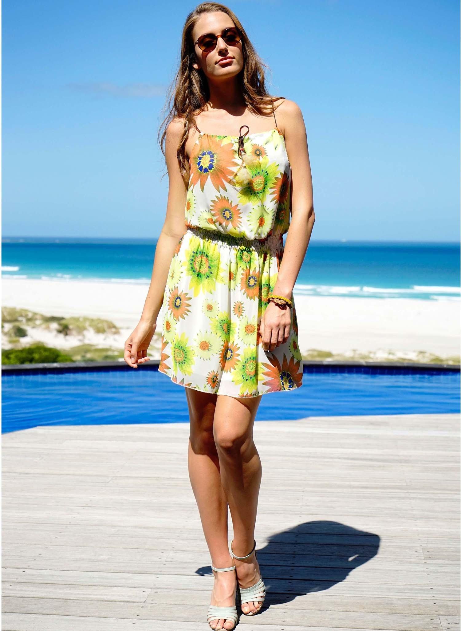D-Sommer-Kleid,Blumen rosa/gr. L 058 - 1 - Ronja.ch
