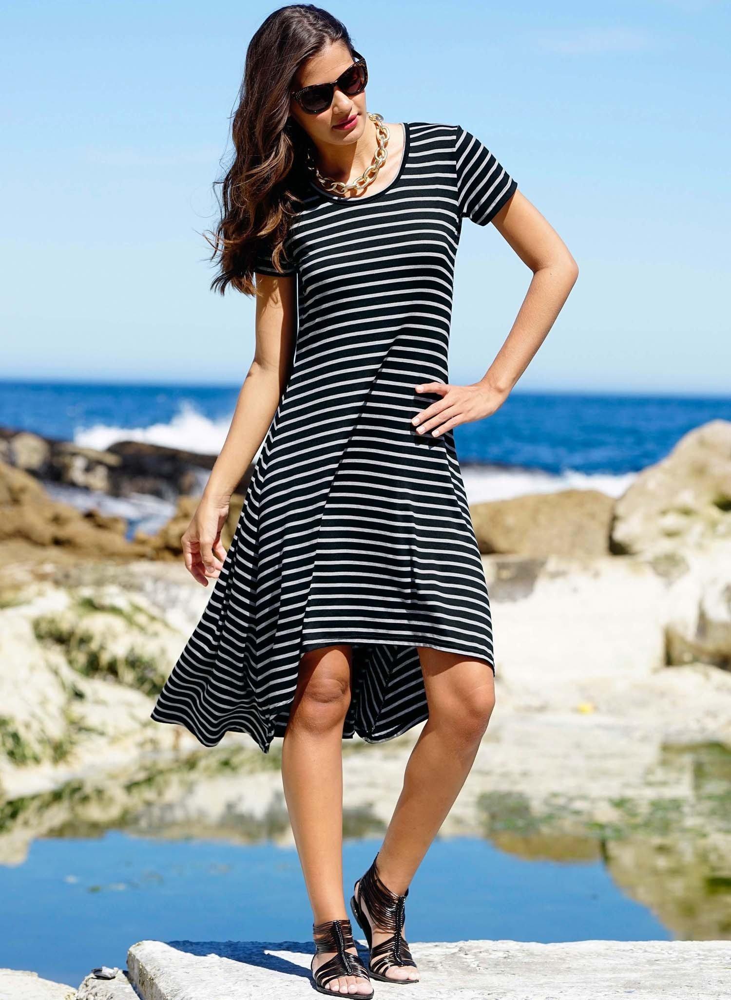 D-KA-Kleid,Streifen schwarz L 010 - 1 - Ronja.ch