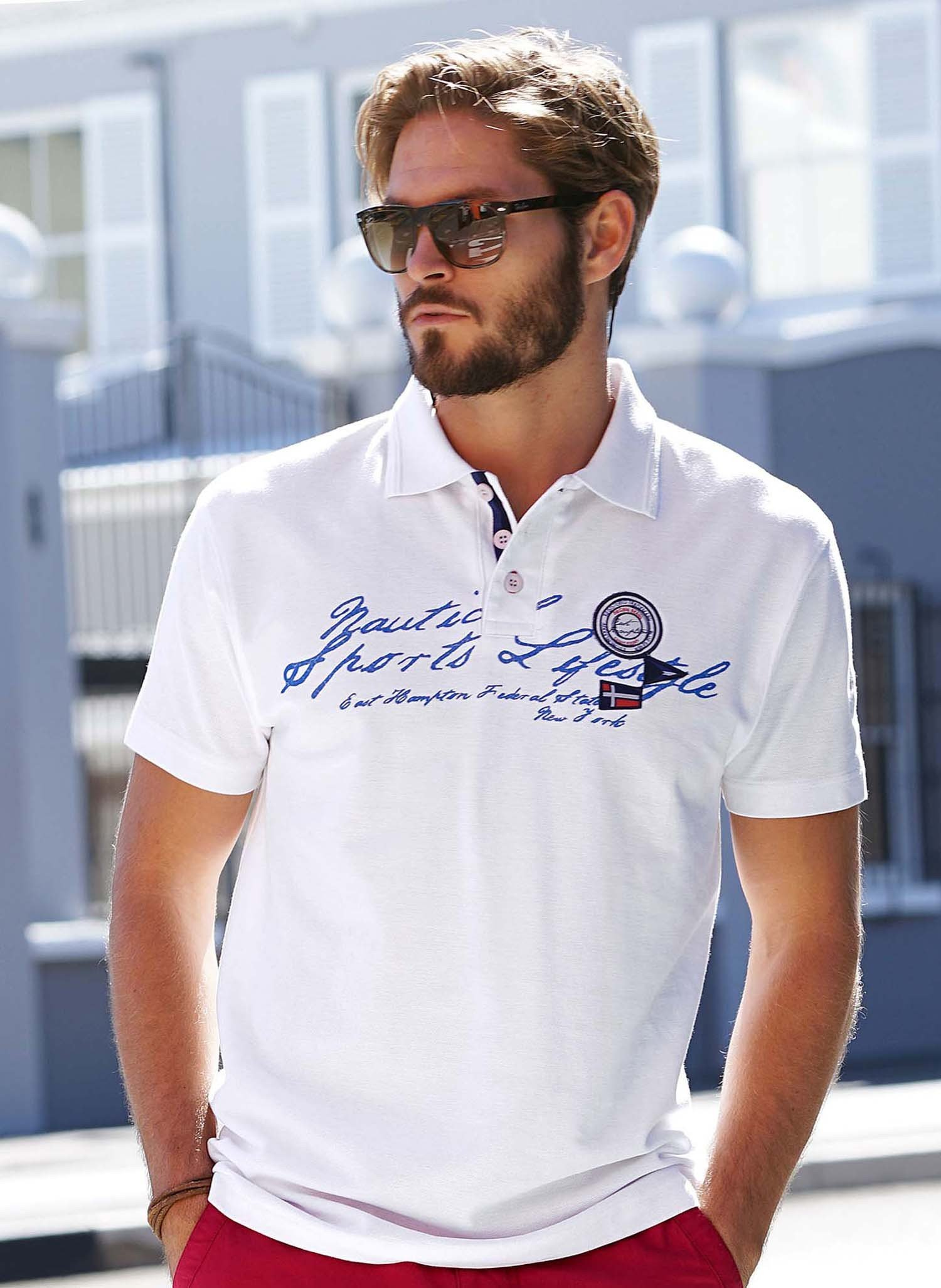 H-KA-Polo-Shirt,Label weiss L 001 - 3 - Ronja.ch