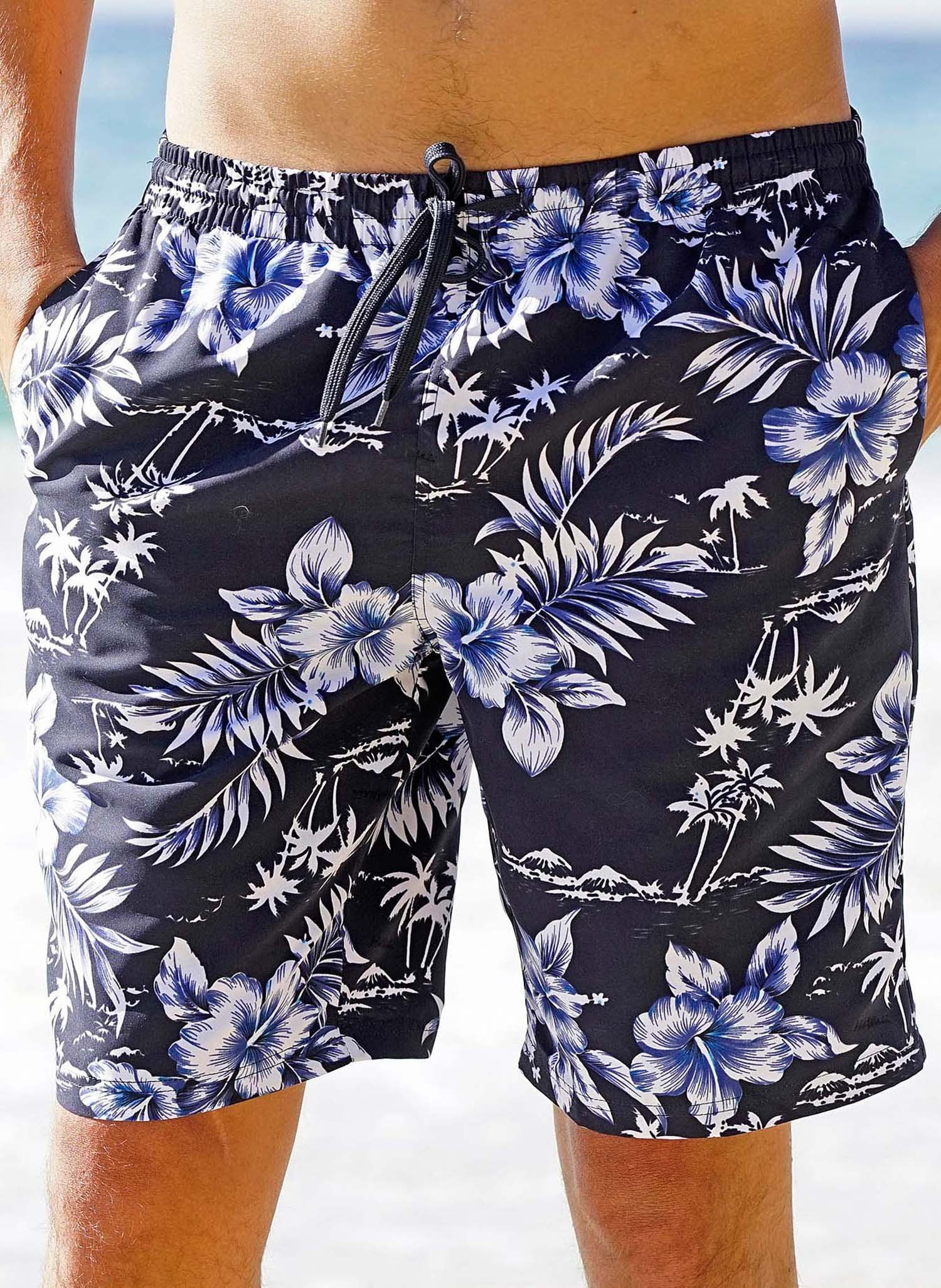 H-Bade-Shorts,HAWAII blau M 047 - 1 - Ronja.ch