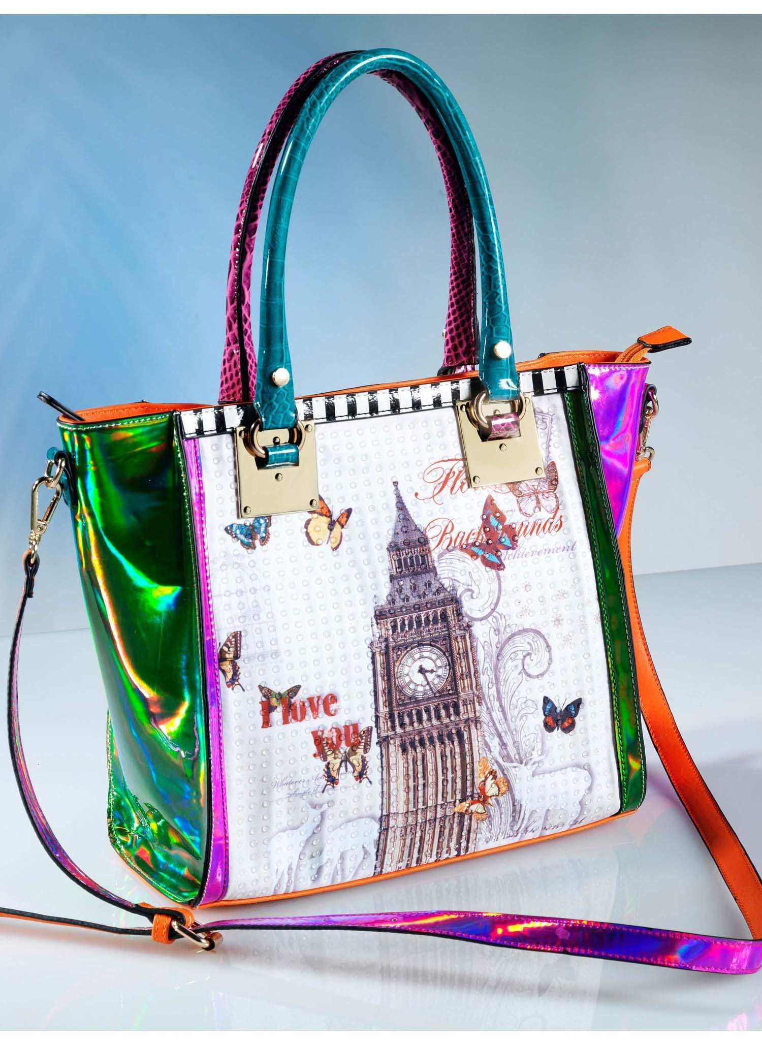 "D-Handtasche""LONDON""multicolor - 1 - Ronja.ch"