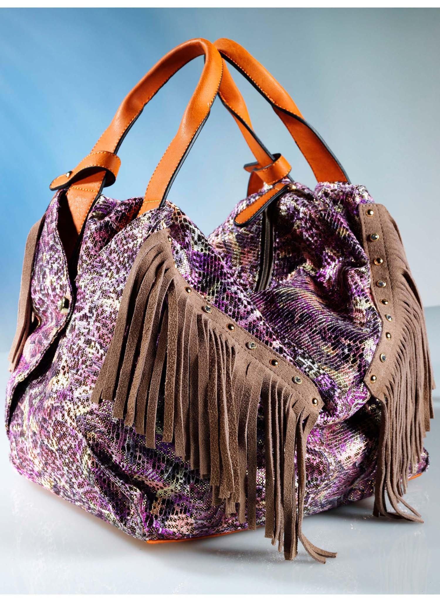 D-Handtasche,Franse,multicolor