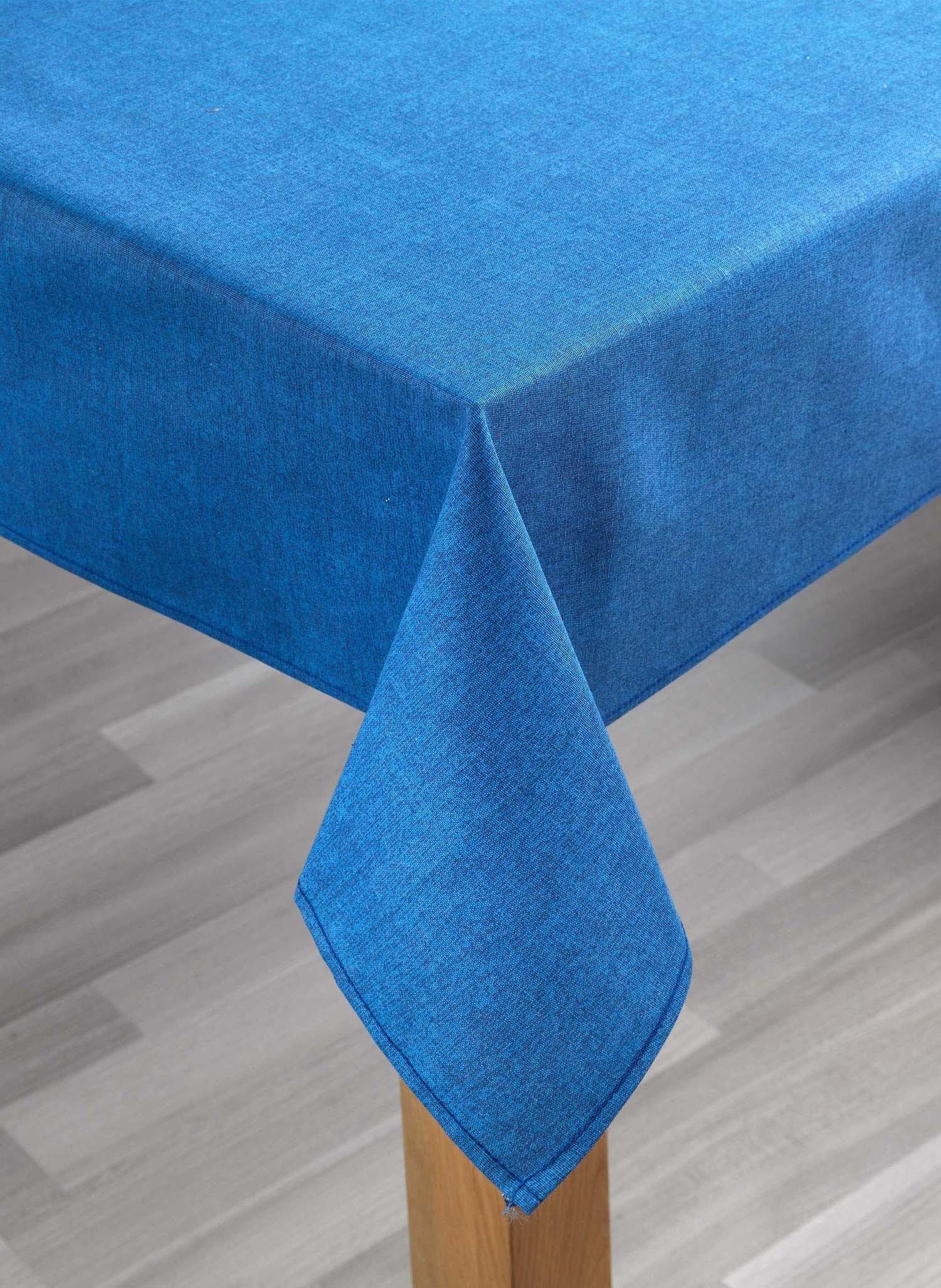 Tischdecke uni blau 140x180cm - 2 - Ronja.ch