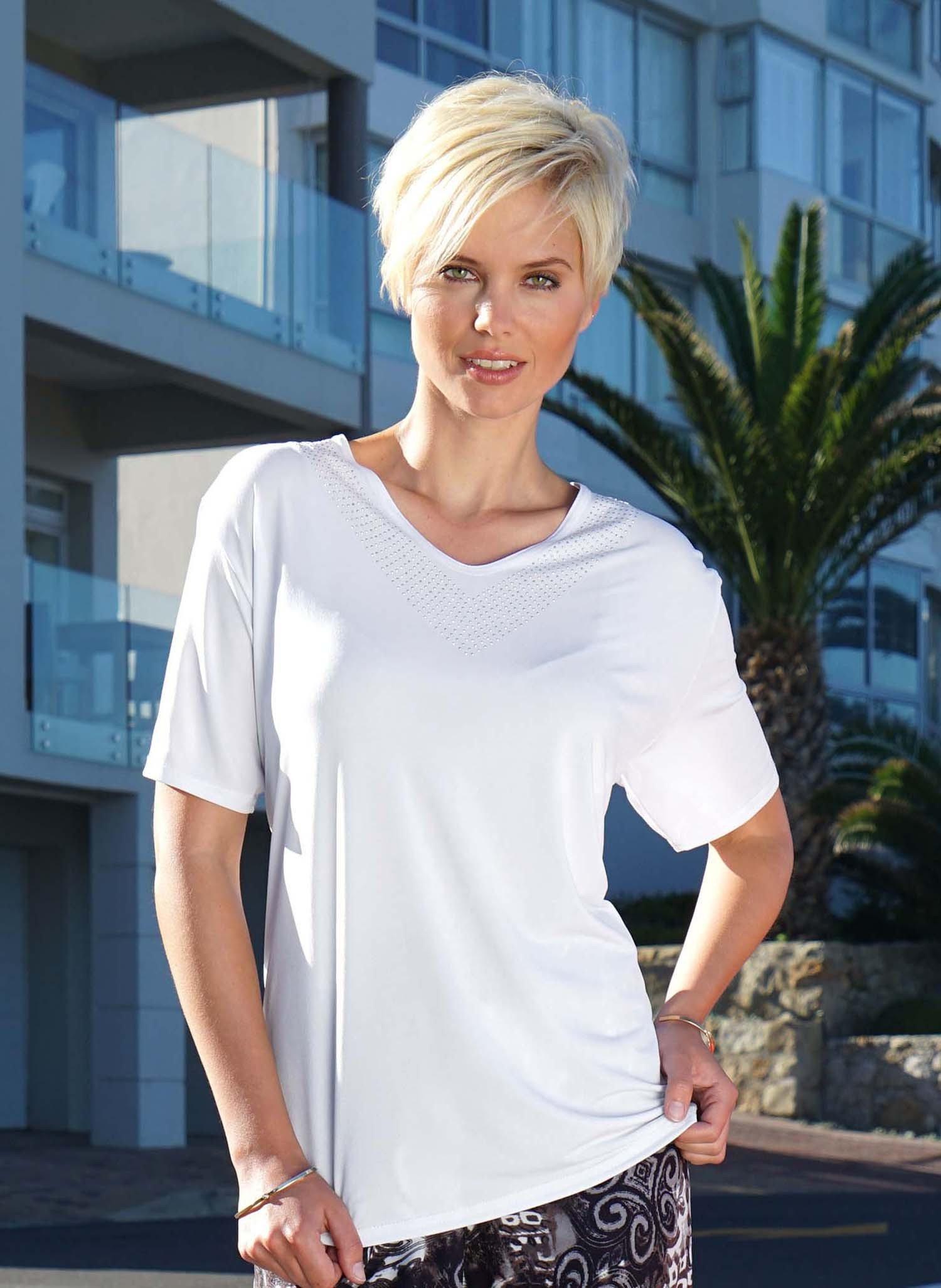 D-KA-Shirt,V-Ausschnitt weiss L 001 - 3 - Ronja.ch
