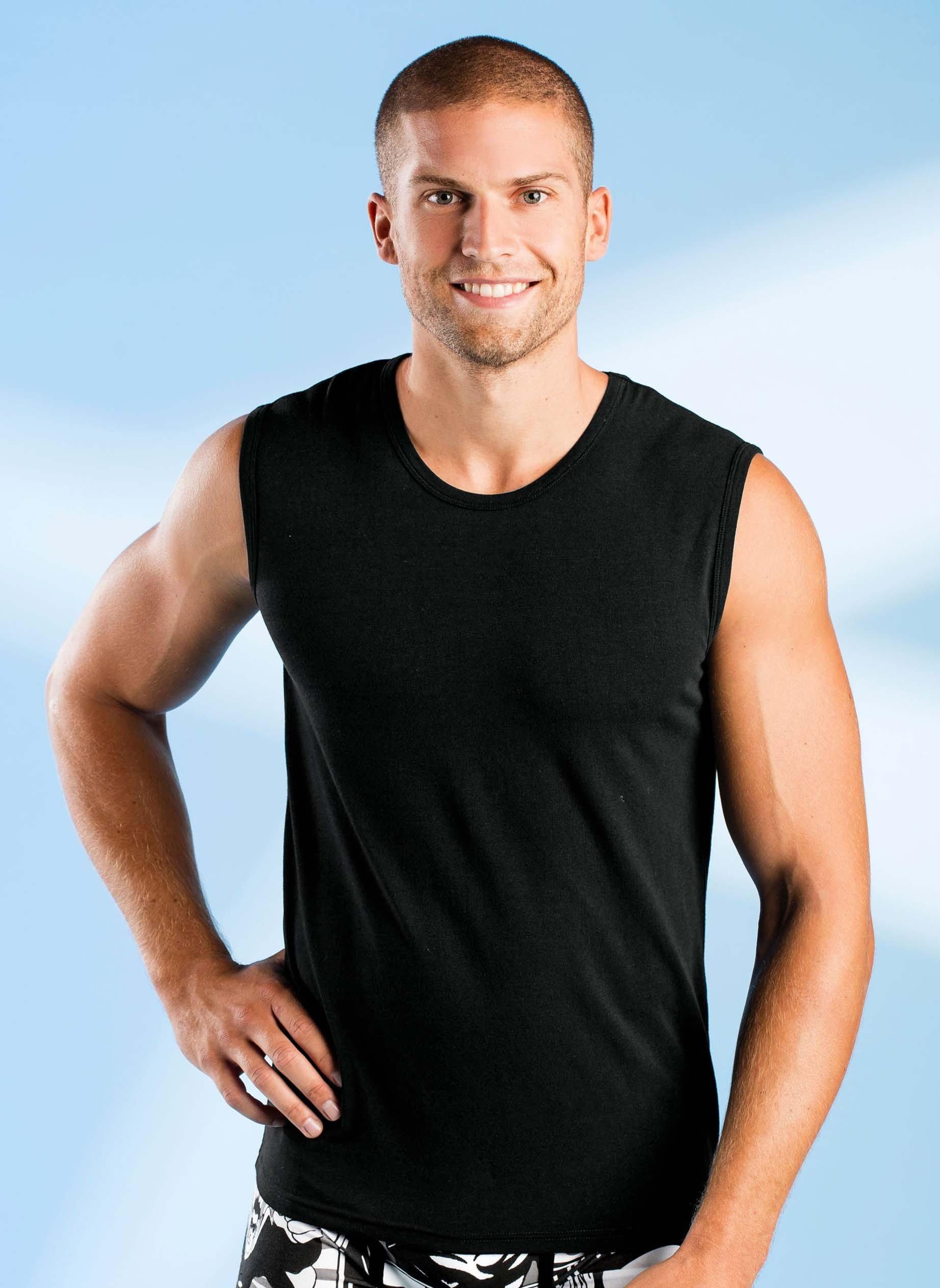 H-Shirt-athl.Modal noir Set-3p