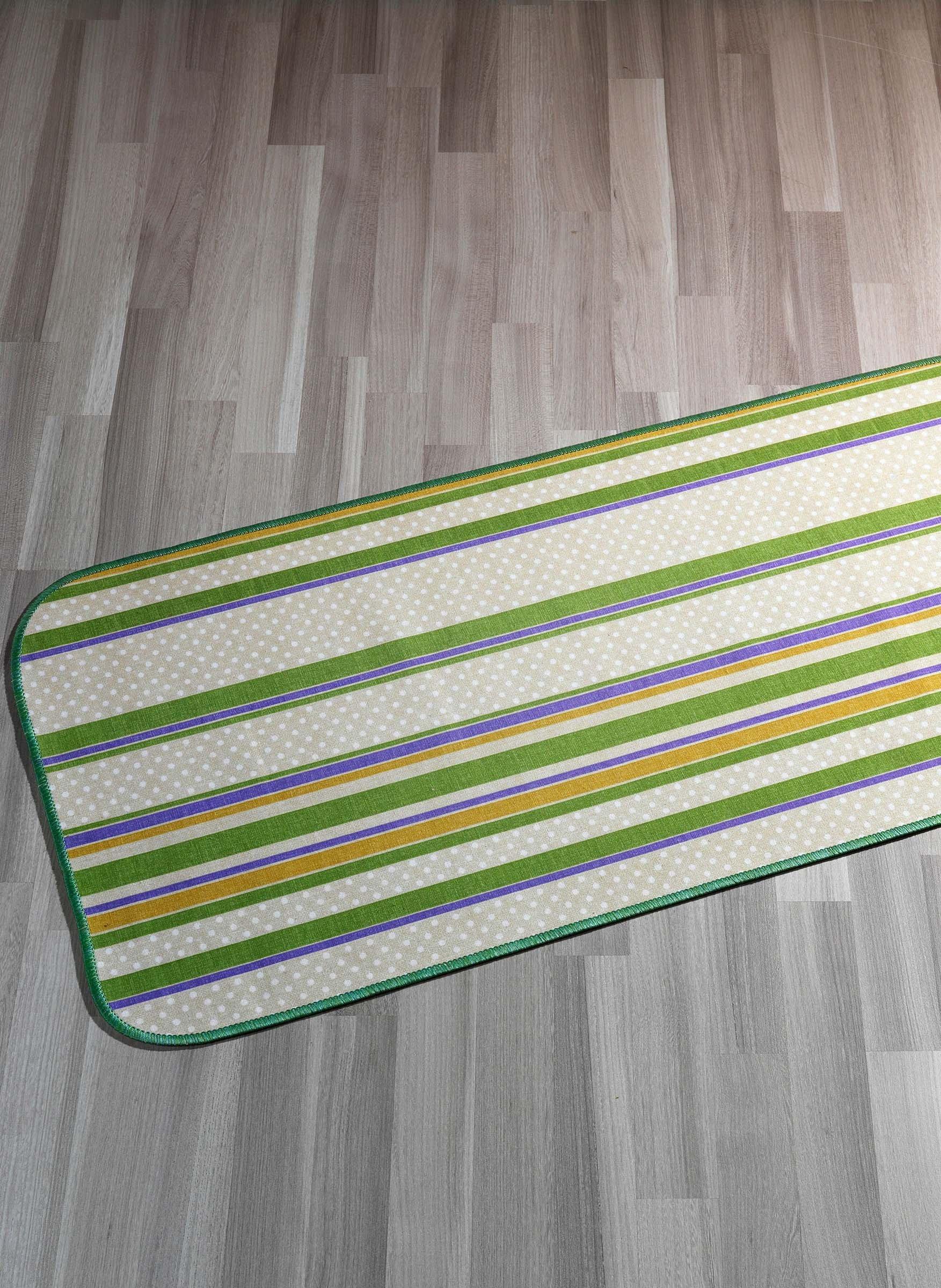 """Teppich""""STREIFEN""""grün 57x115"""