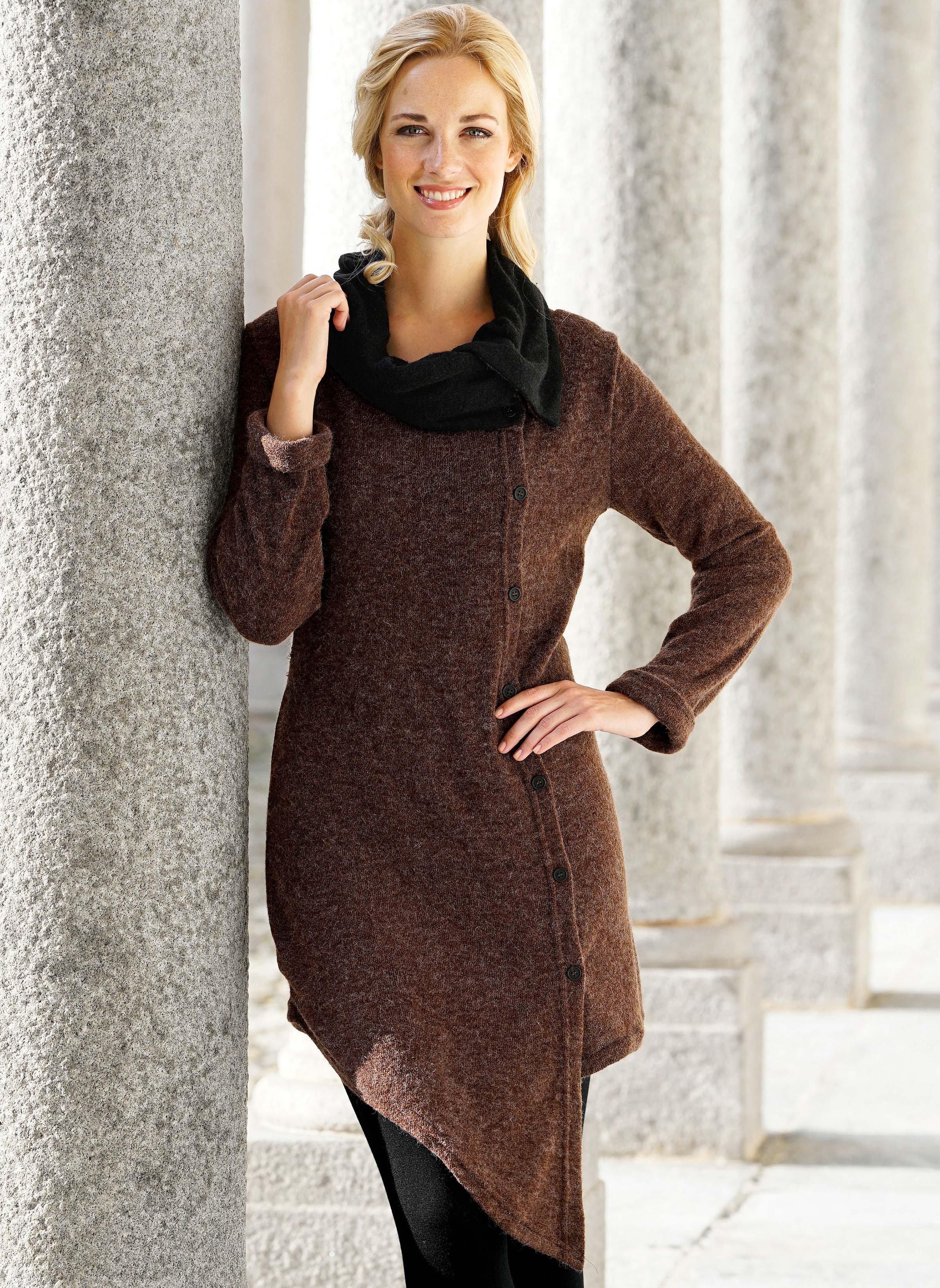 Manteau en tricot fin
