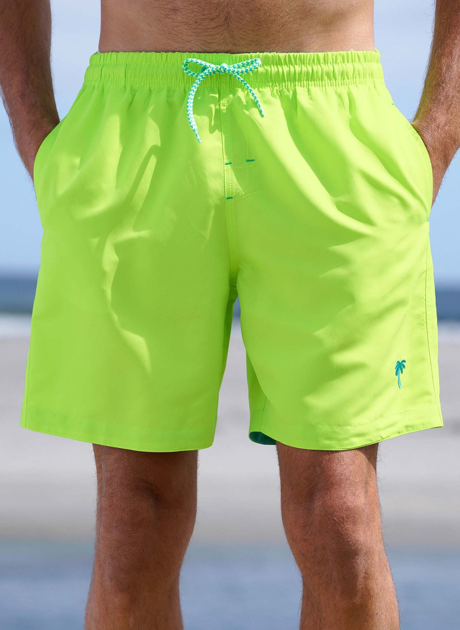"H-Bade-Shorts ""NEON"" citron L 377 - 1 - Ronja.ch"