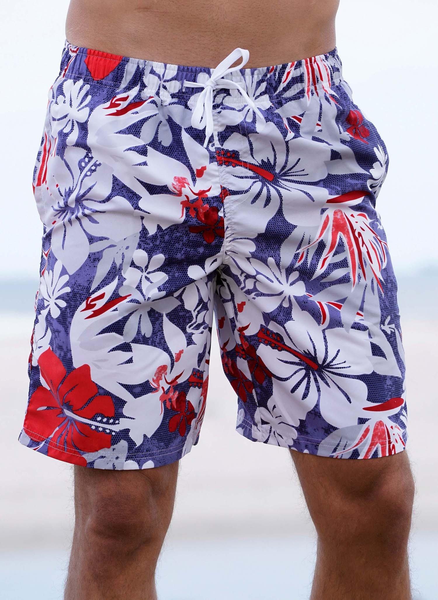 """H-Bade-Shorts,""""HAWAII"""" Floral L 421 - 1 - Ronja.ch"""