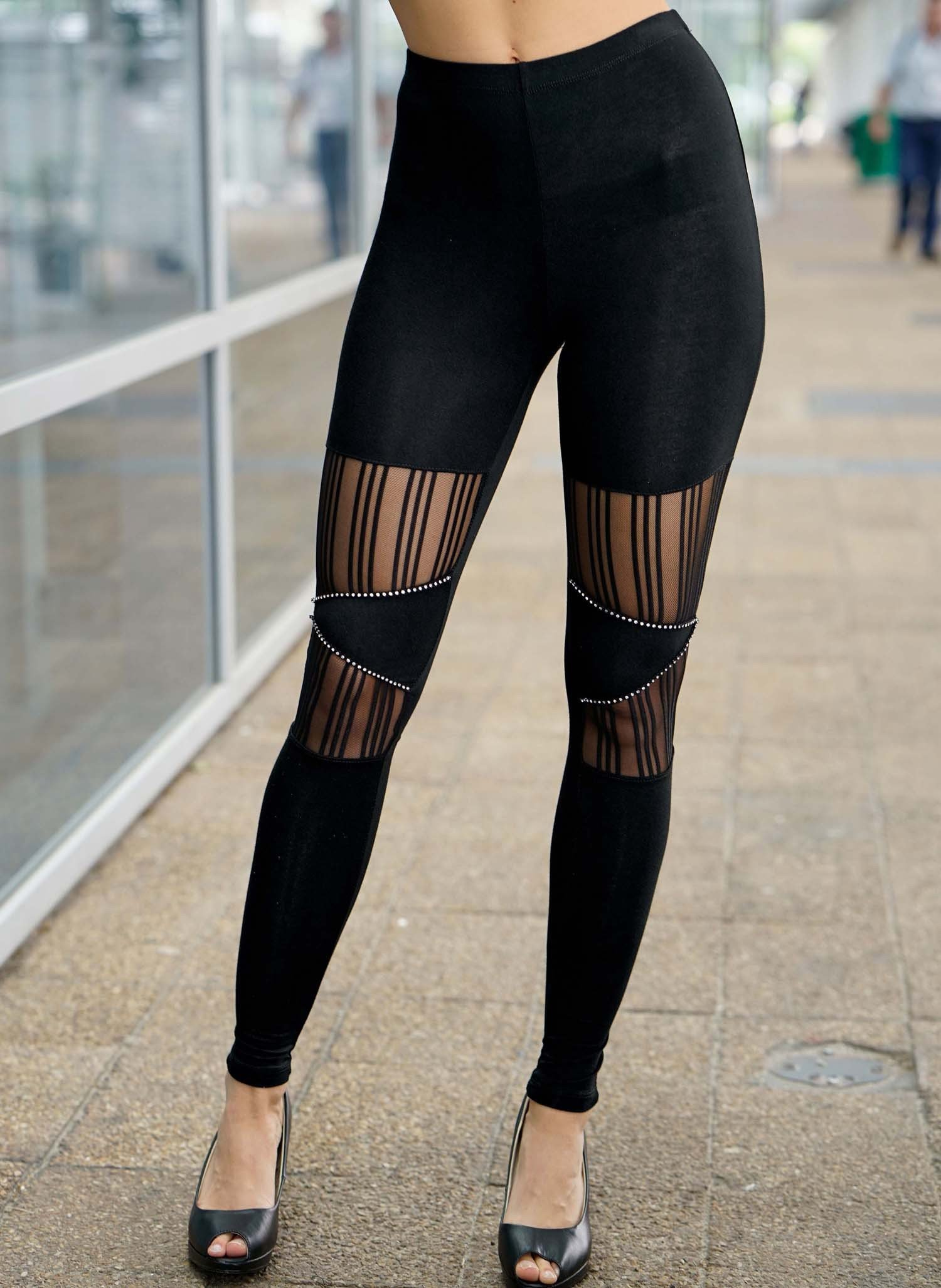 D-Cockt.-Leggings,Strass schw. L 010 - 1 - Ronja.ch