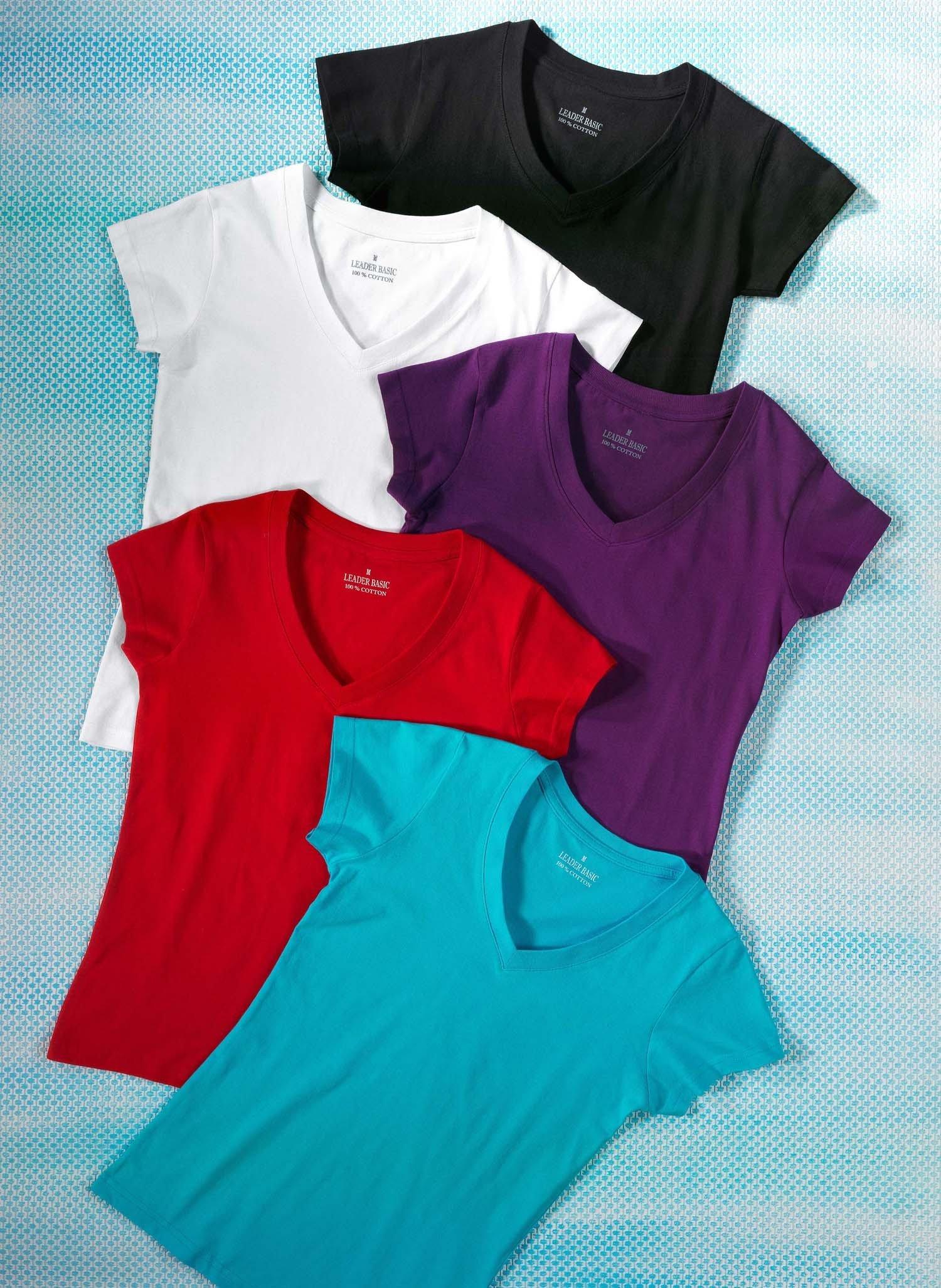 D-KA-Shirt,V-Aus.uni schwarz L 010 - 2 - Ronja.ch