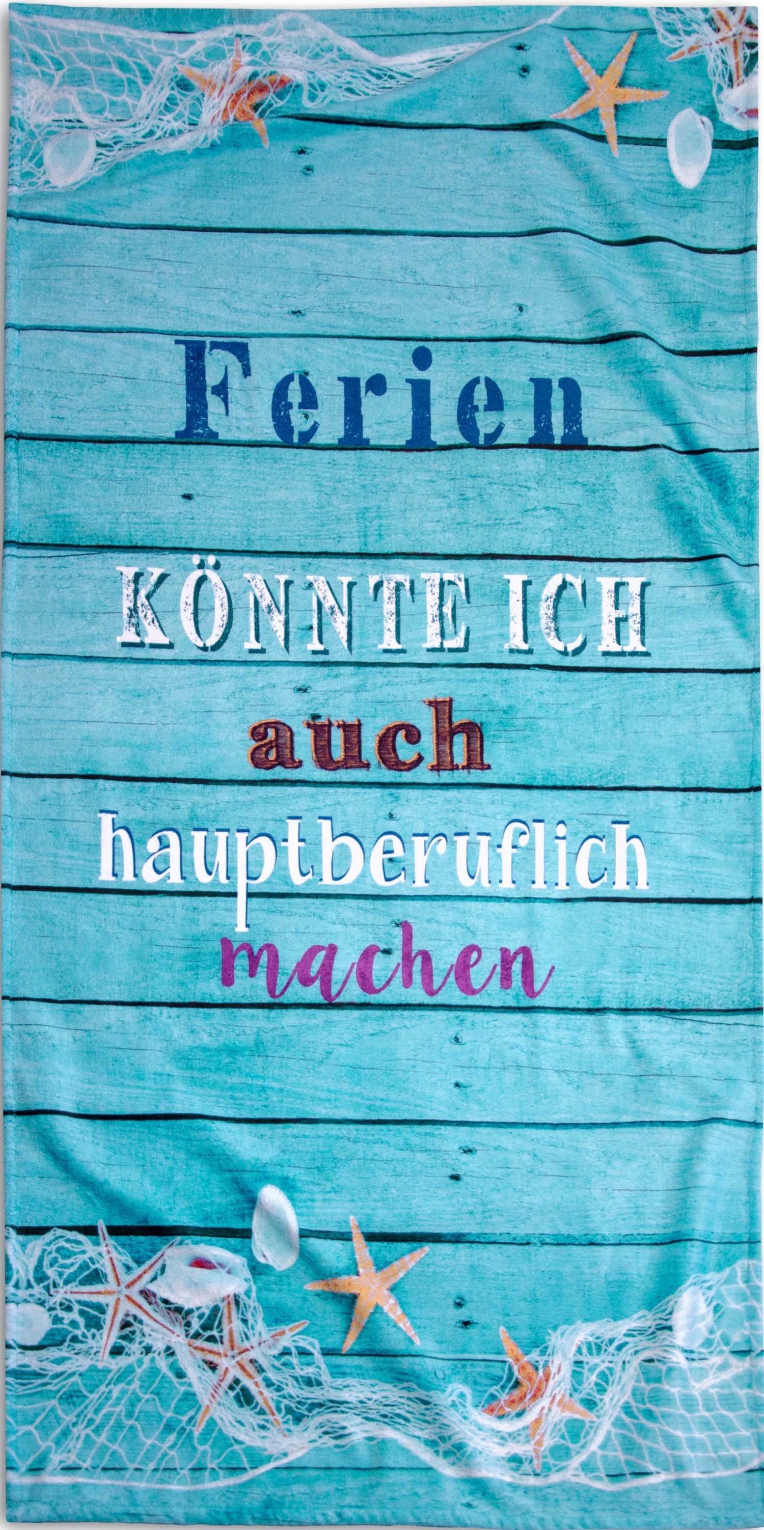 """Strandtuch""""FERIEN""""70x140cm - 1 - Ronja.ch"""
