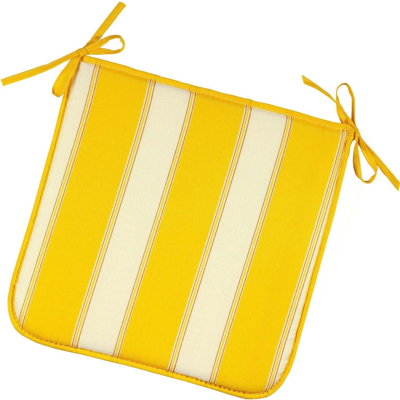 Coussins-chaise carré jaune 2p