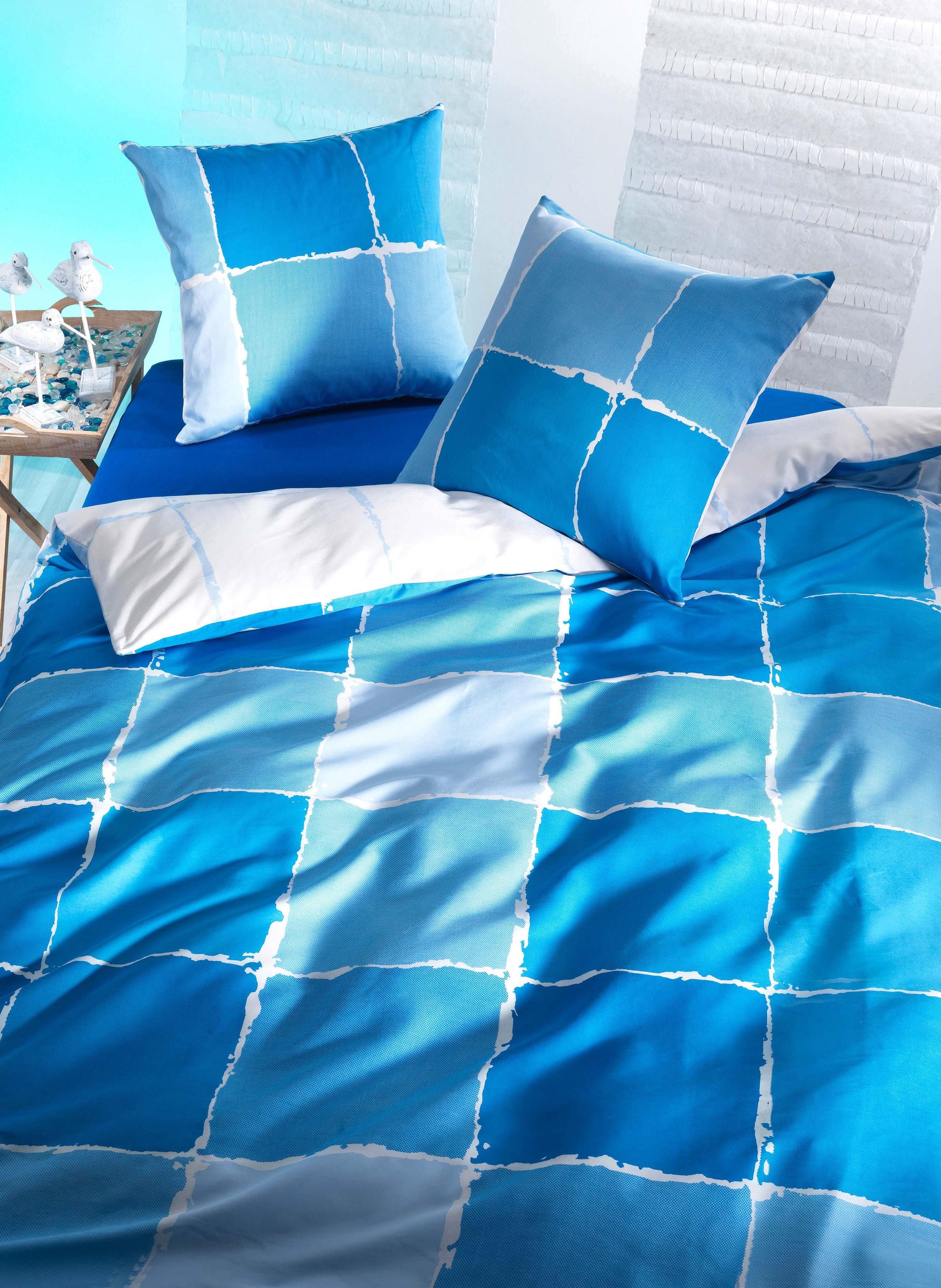 """FS-Duvet""""MALTA""""135x170 bleu"""