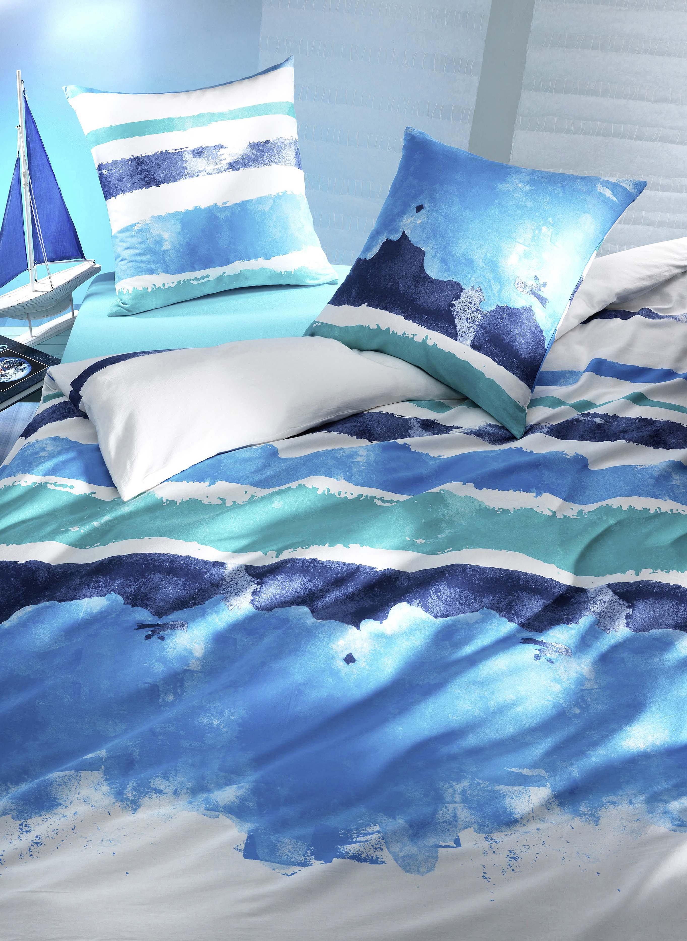 Garniture de lit en satin «NADINE»