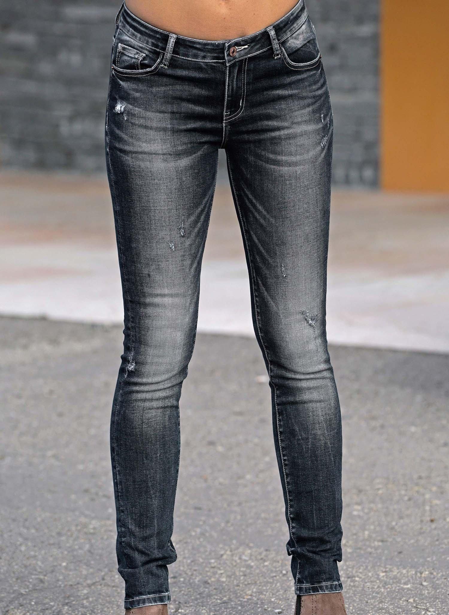 D-5-Poket Jeans, Black-Denim 44 012 - 2 - Ronja.ch