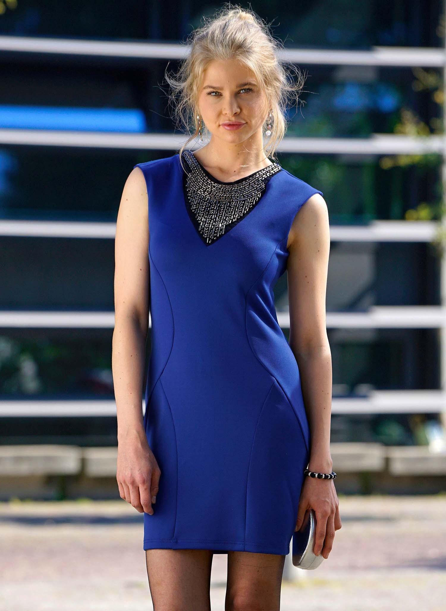 D-Robe, appl.bijoux, bleu roi