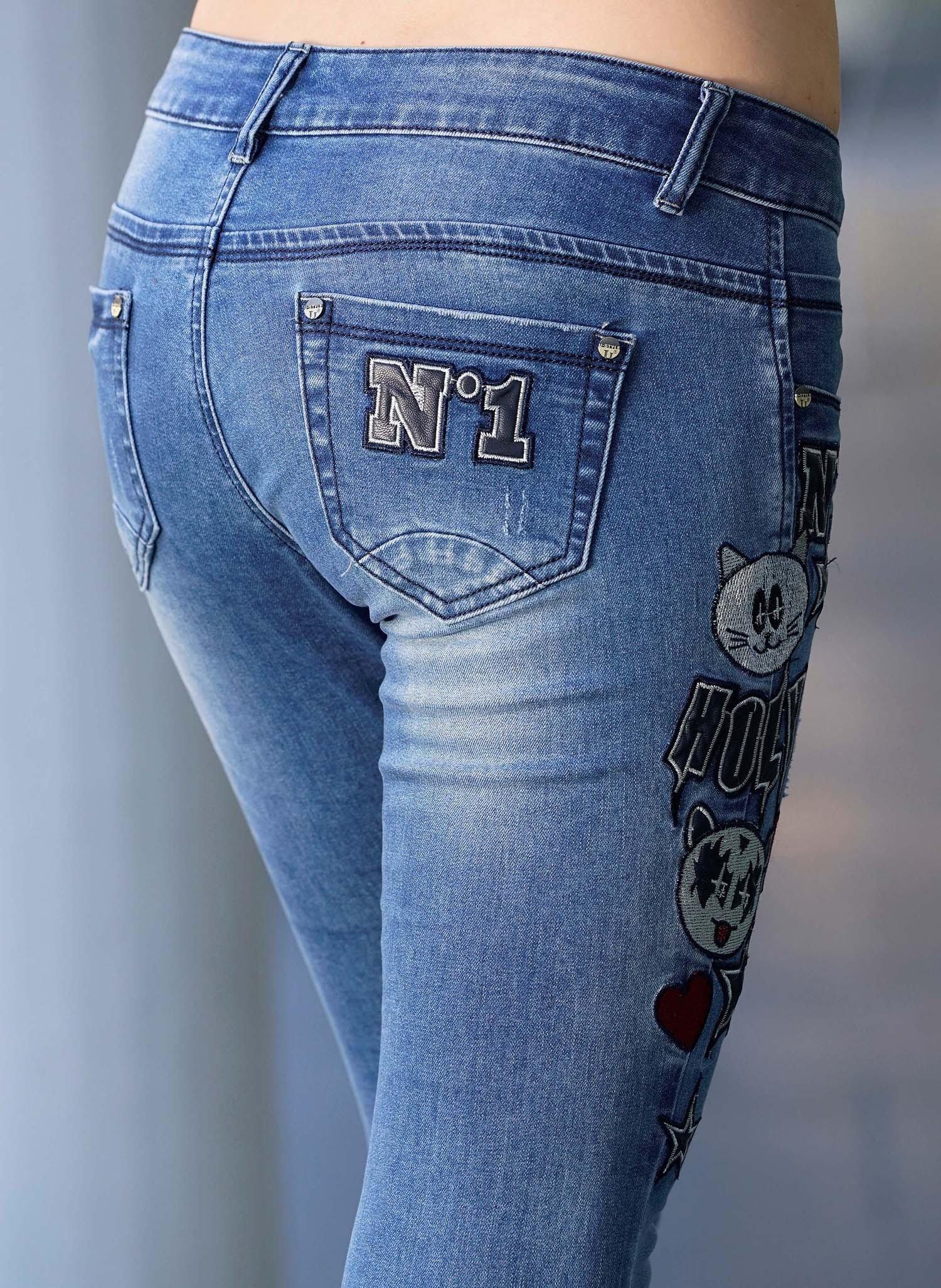 D-Jeans,Stickerei-App.Blue-Den 44 050 - 2 - Ronja.ch