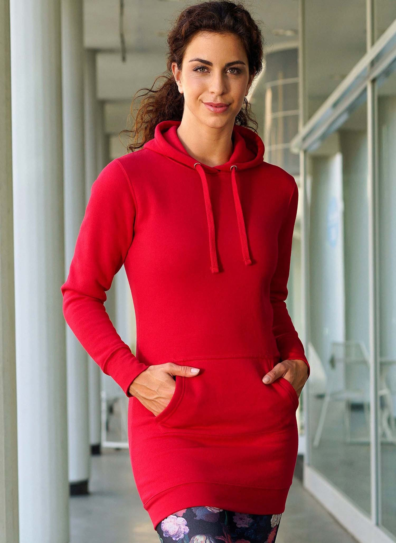 D-Sweat-robe-capuchon rouge