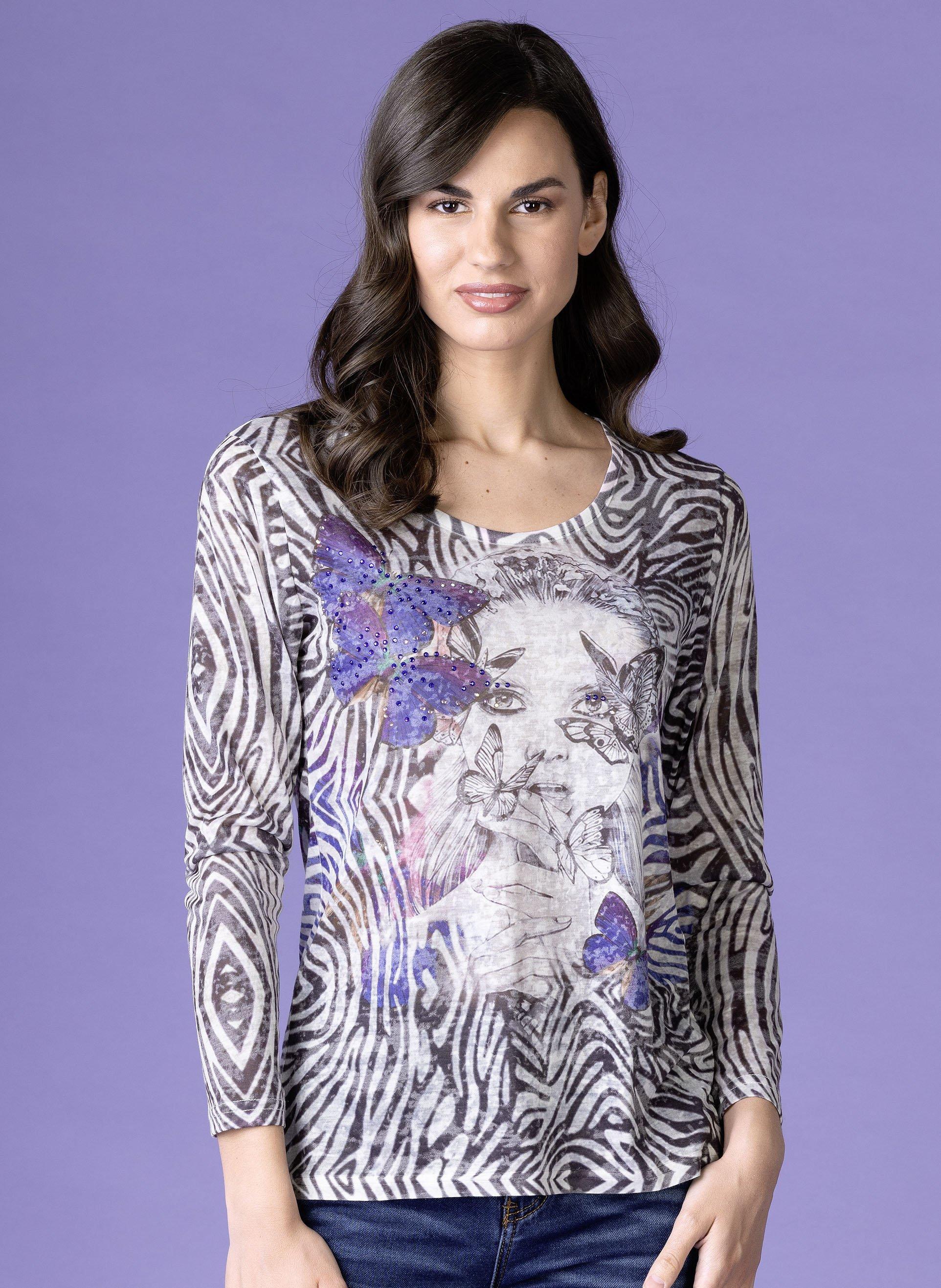 D-LA-Shirt,Girl/Schmetterling L 058 - 1 - Ronja.ch